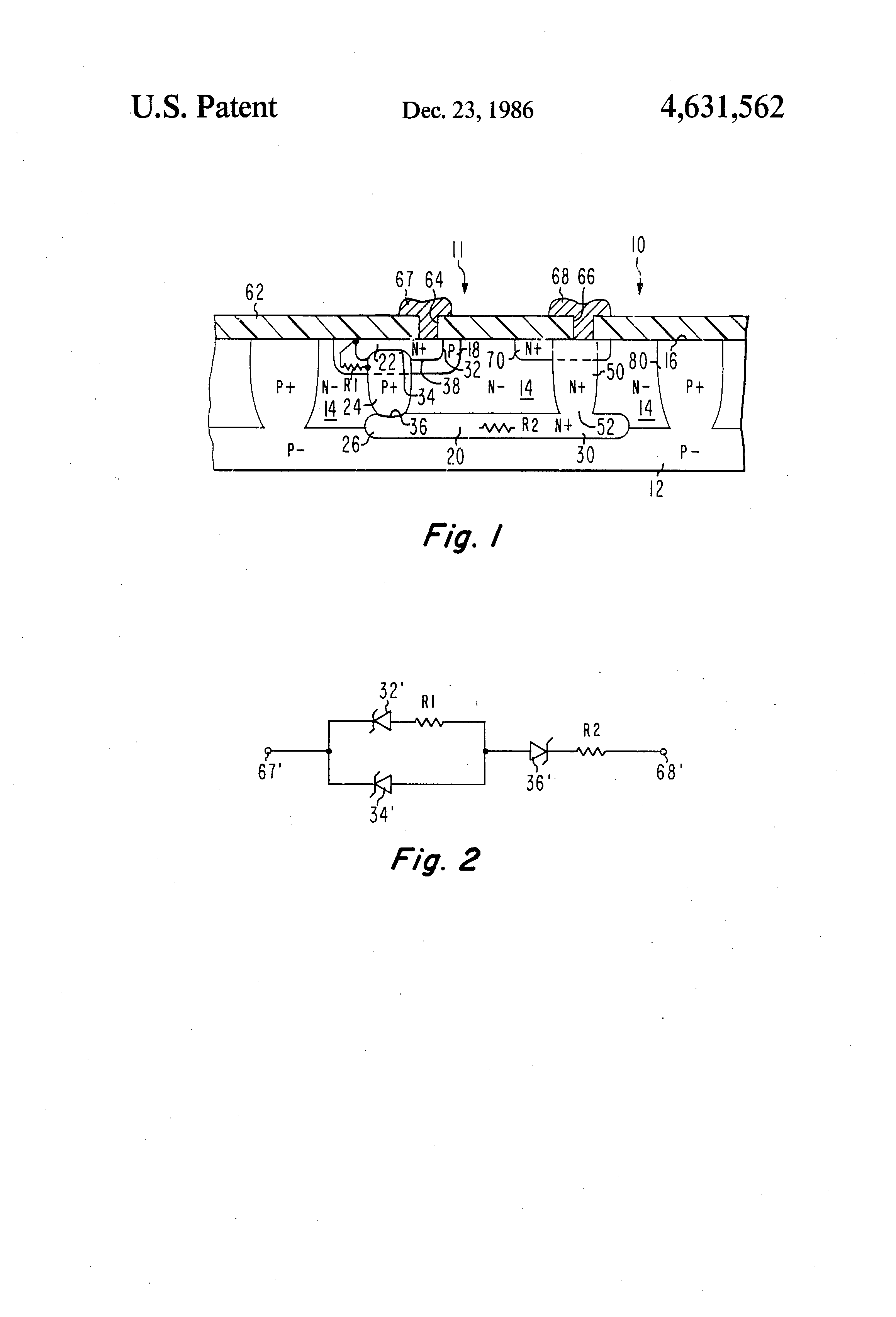 Patent Us4631562 Zener Diode Structure Google Patents Circuit Diagram Characteristics Drawing