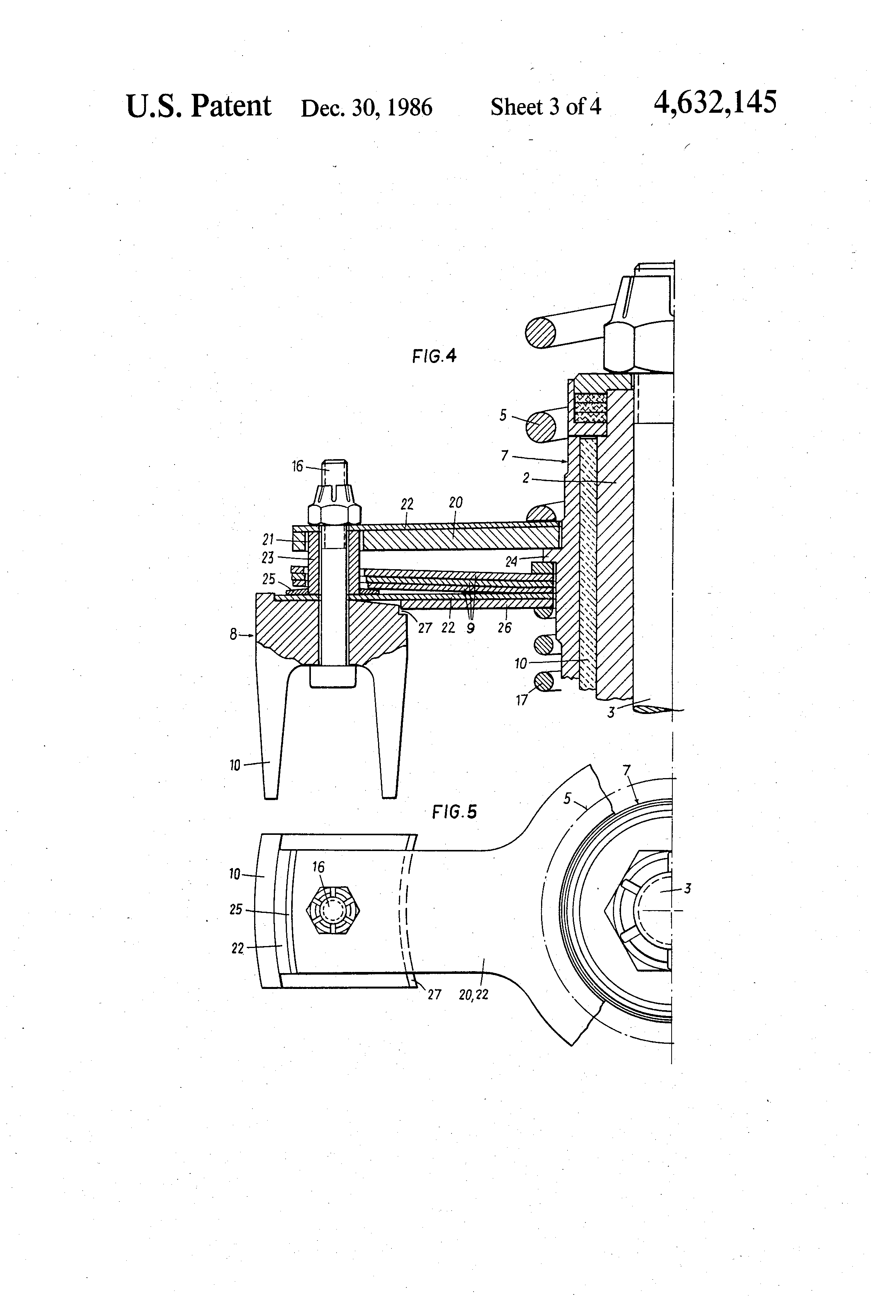 patent us4632145 - lifting device for the closure plate of compressor valves