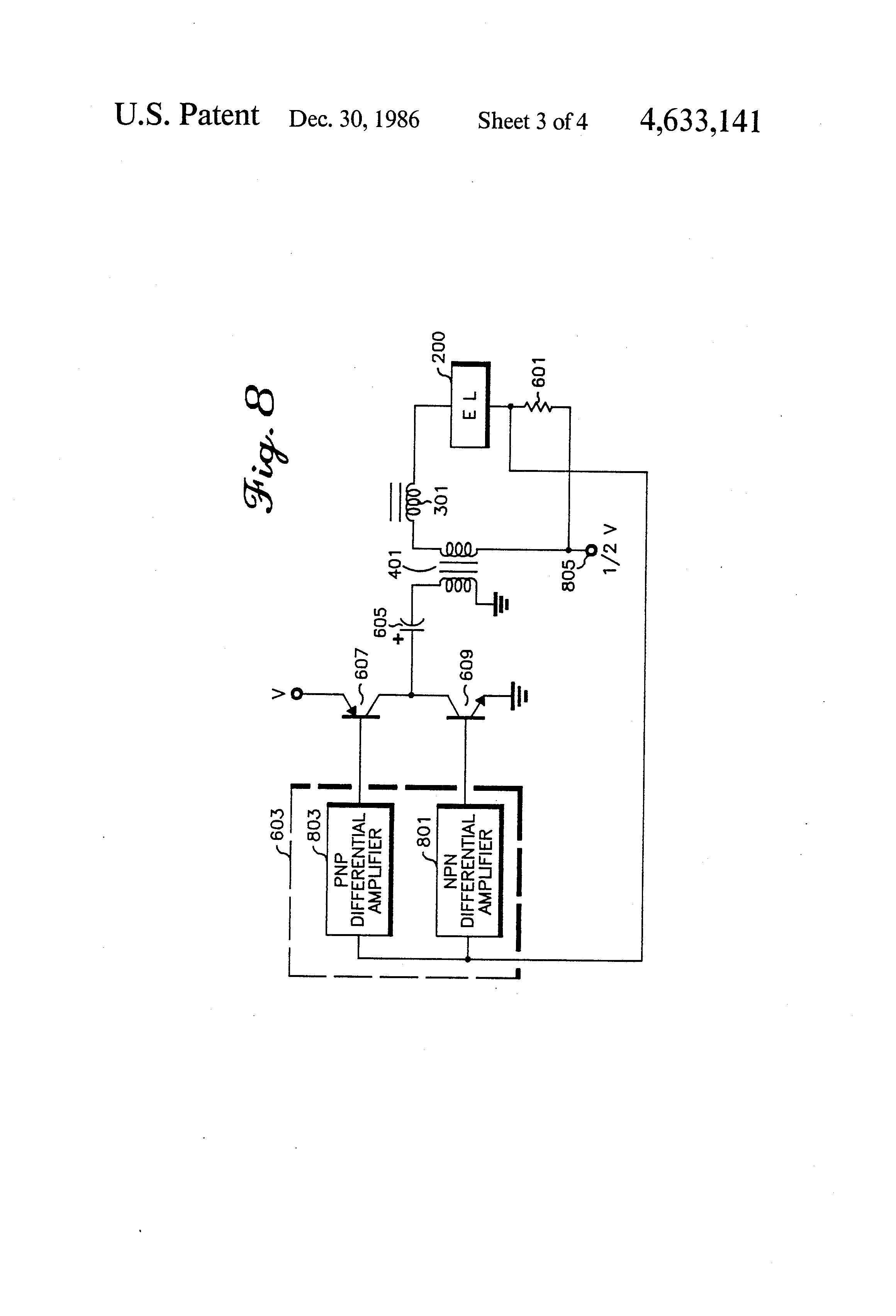 Patent Us4633141 Low Voltage Power Source Inverter For An Supply Circuit Come To Deposit Again Which Be The Drawing