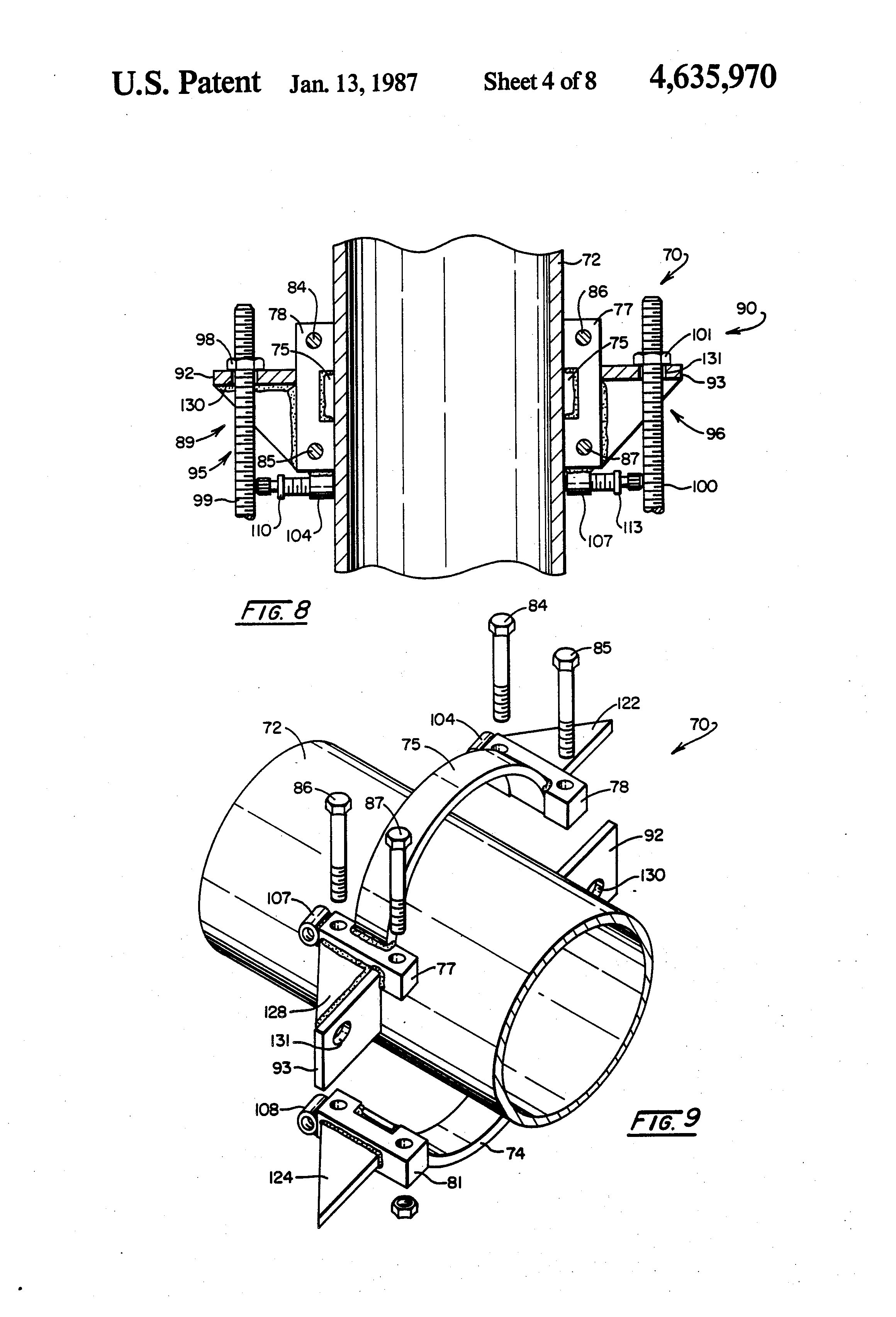 Patent us thrust rod anchor for pipe joint