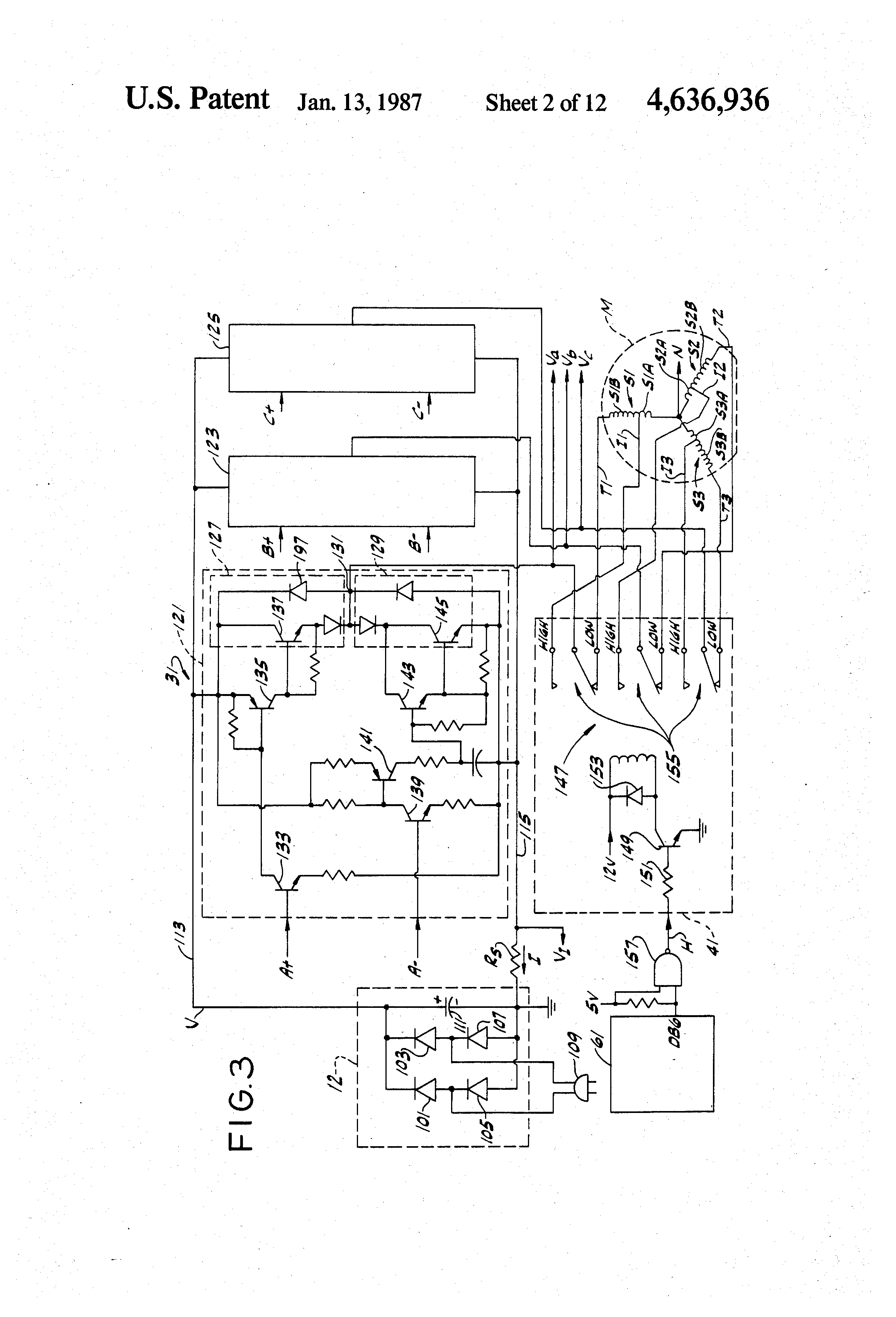 Brevetto us4636936 control system for an electronically for Electronically commutated motor ecm