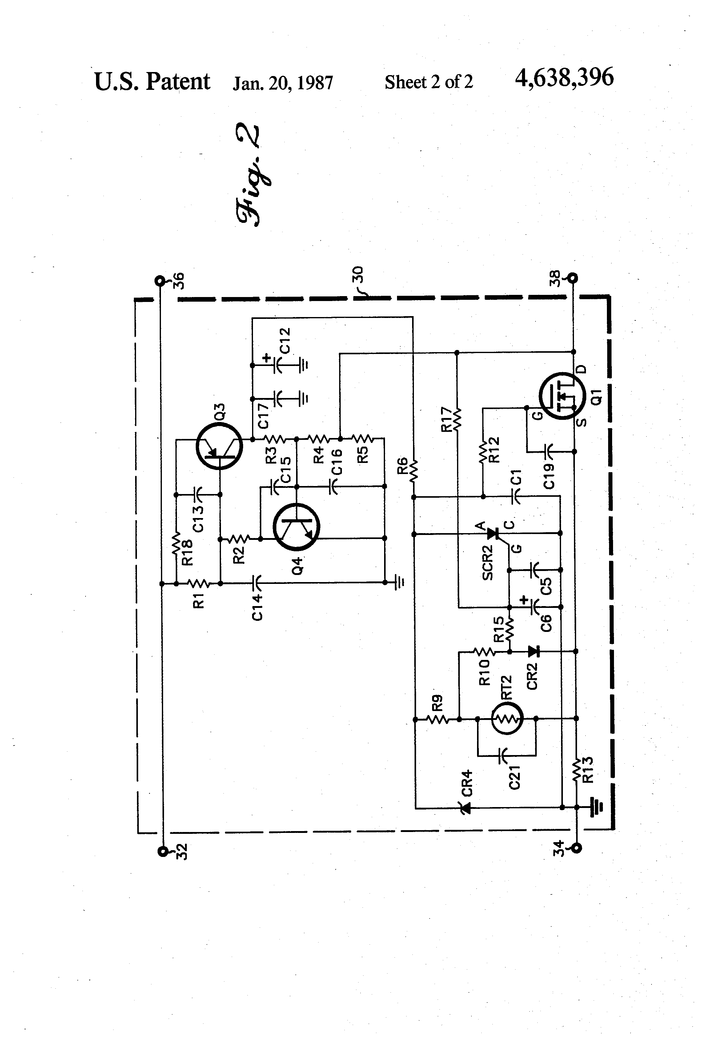 patent us4638396 - intrinsically safe battery circuit