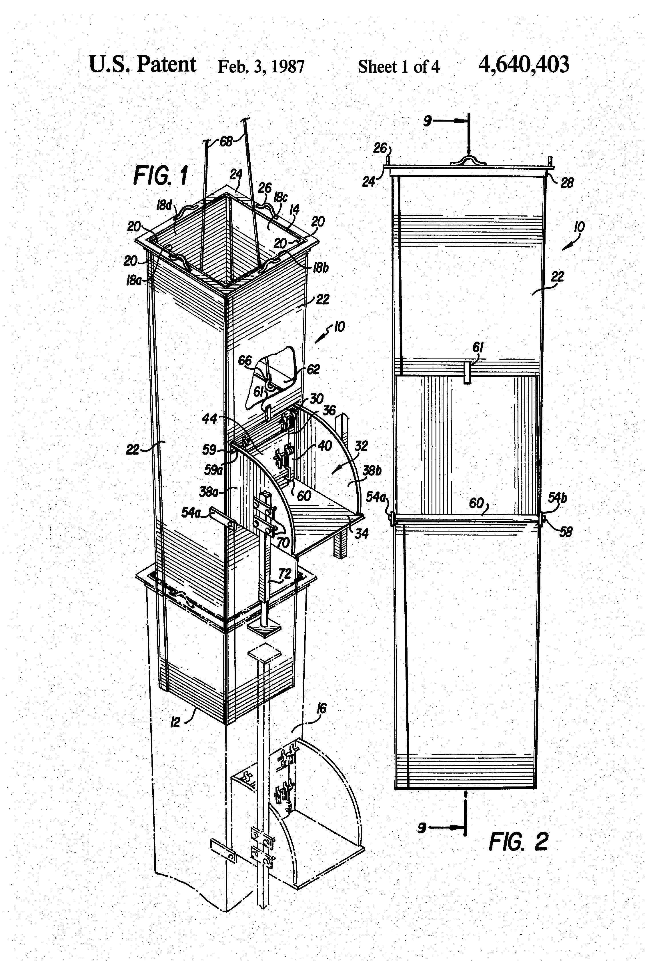 Trash Chute Dimensions : Patent us gravity conveyor chute section google