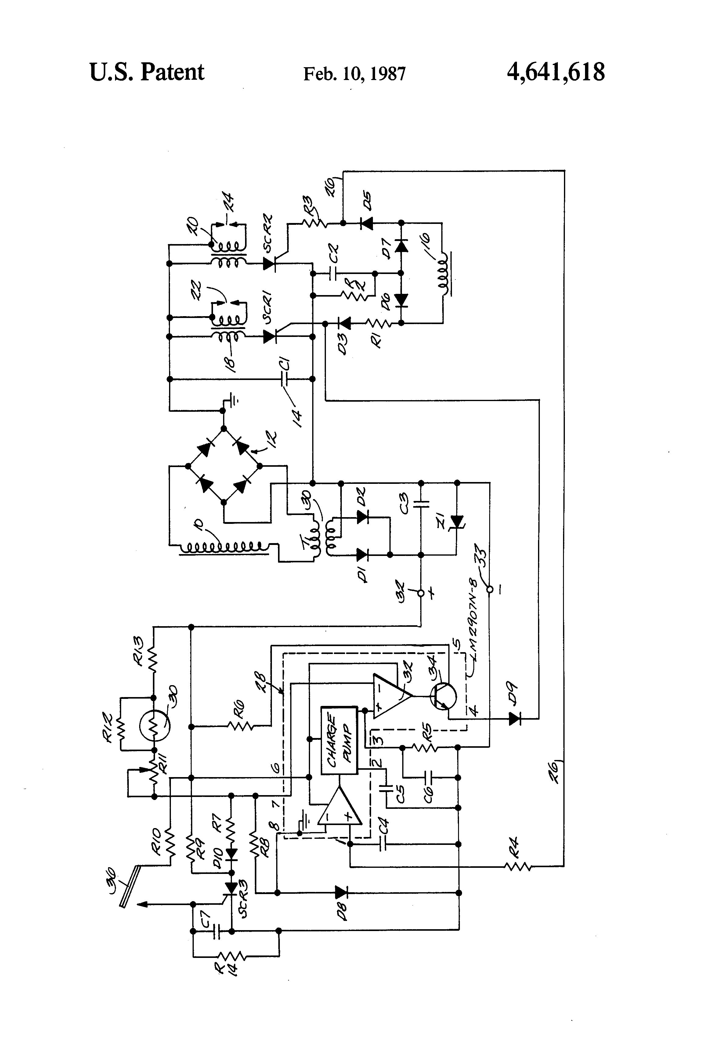 US4641618 1 patent us4641618 overspeed overheat circuit with a latch for kokusan denki cdi wiring diagram at highcare.asia