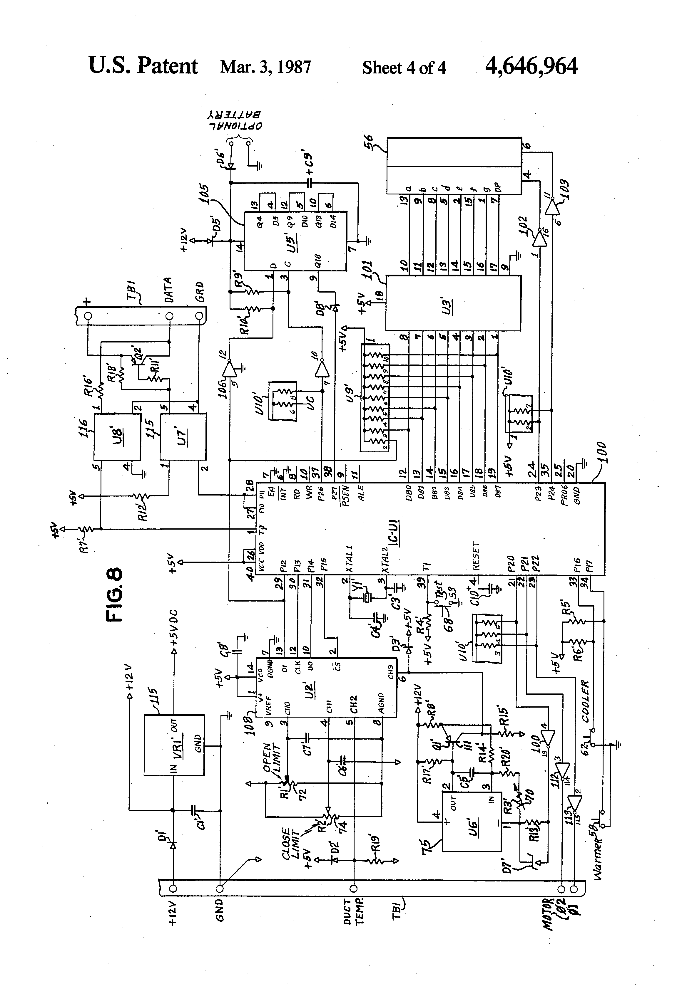 Patent US4646964 Temperature control system   Patents #404040