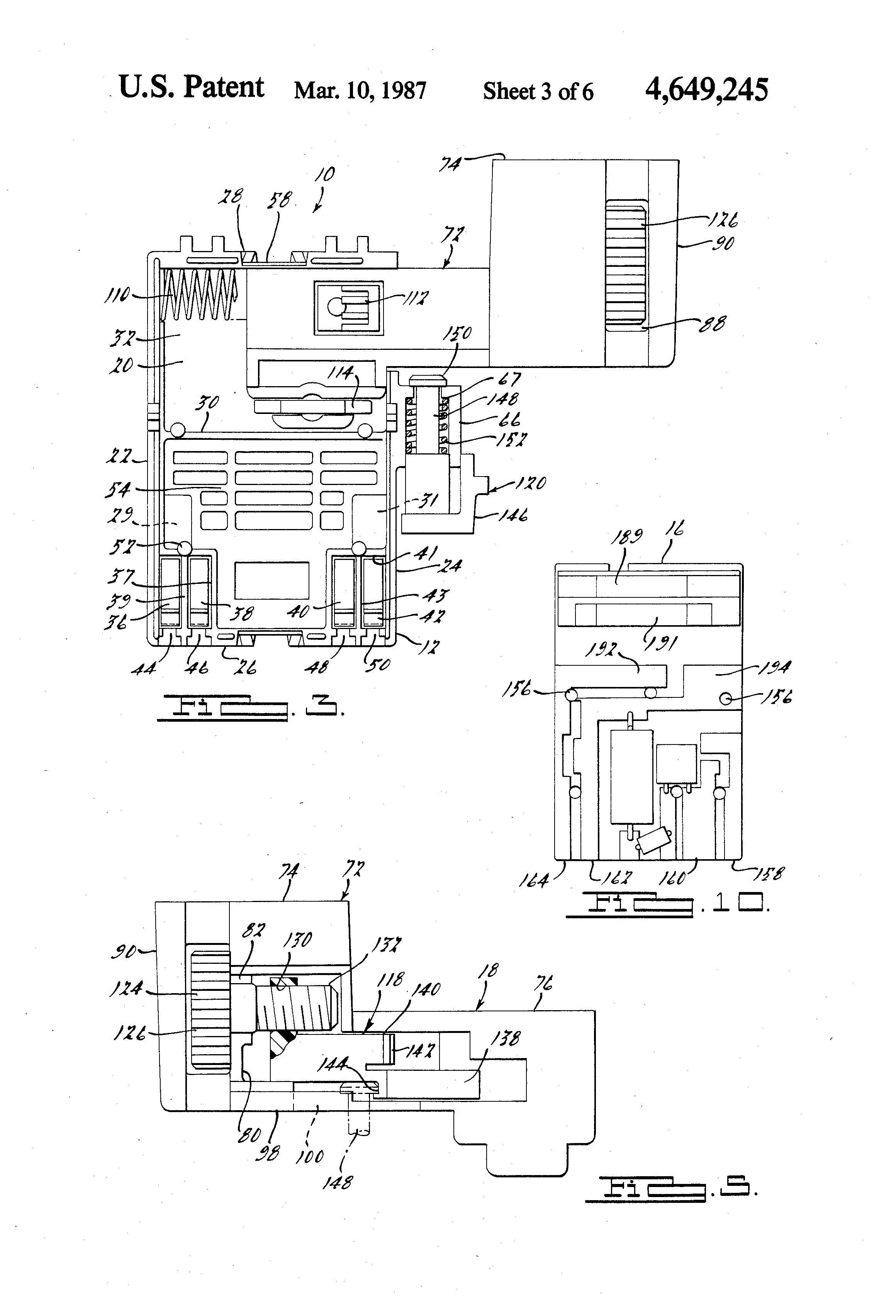 Patent Us4649245 - Variable Speed Trigger Switch