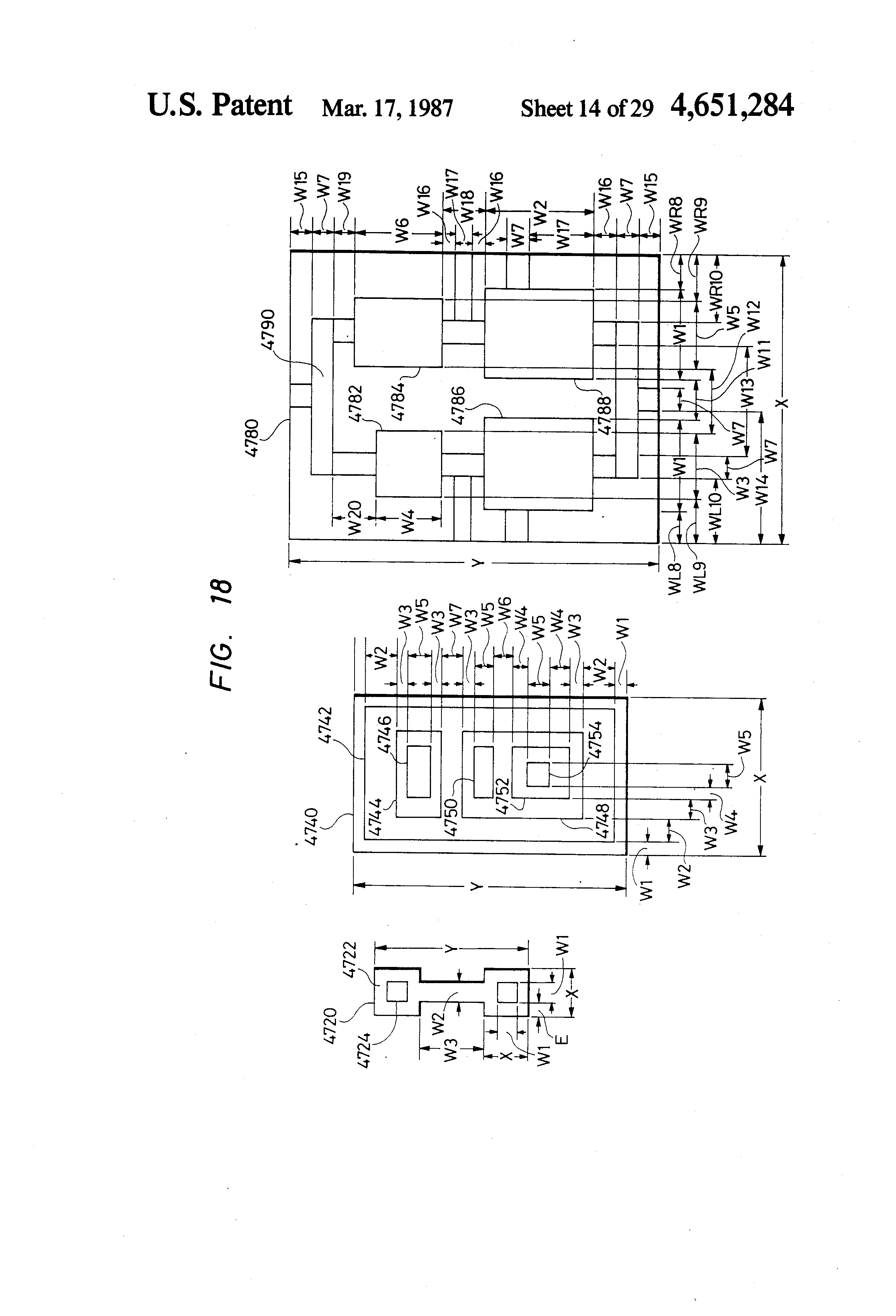 patent us4651284 method and system of circuit pattern patent drawing