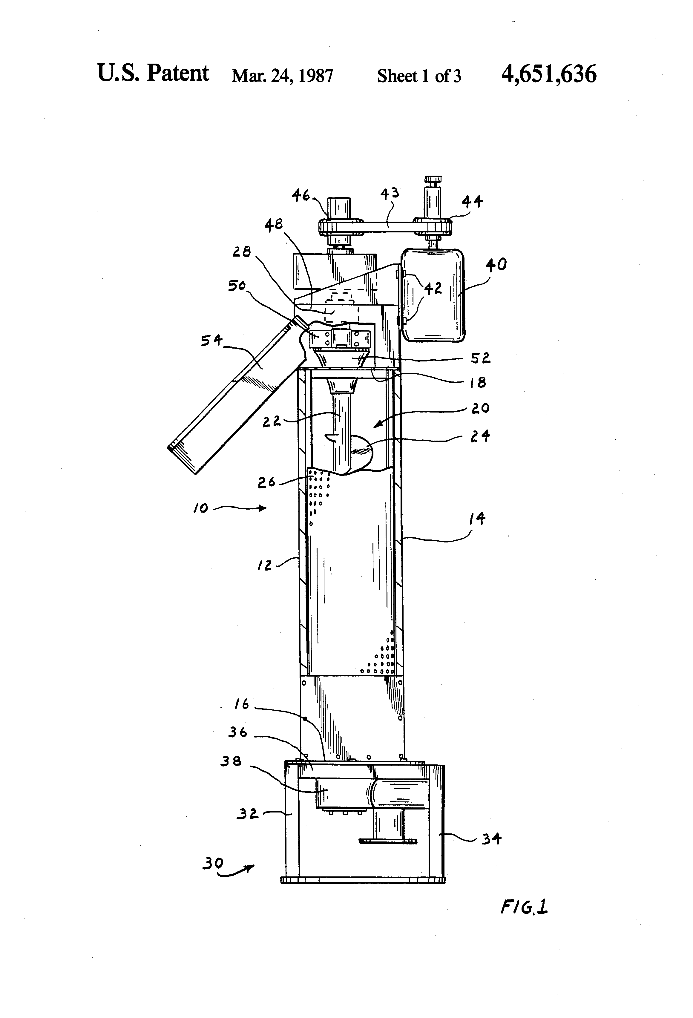 Patent Us4651636 Adjustable Cone For Hydra Extractor Google Patents Diagram Drawing