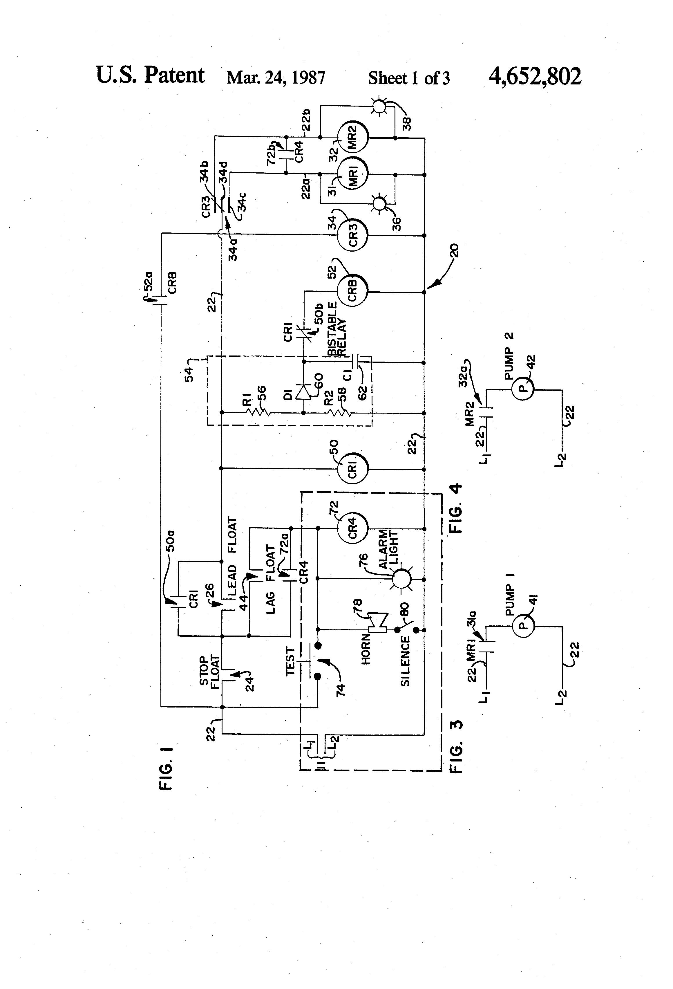 patent us4652802 - alternator circuit arrangement useful in liquid level control system