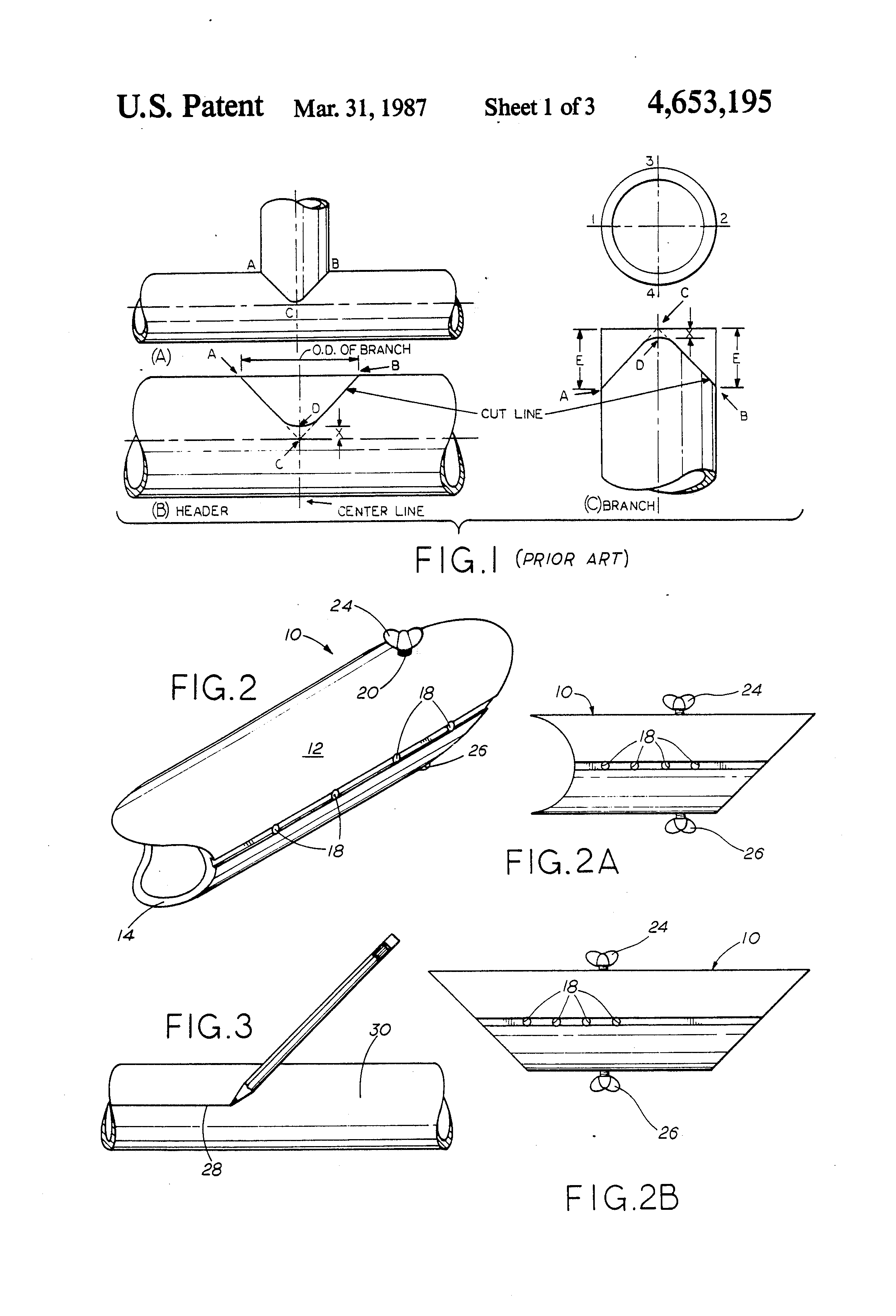 Patent US4653195 - Flame cutting template - Google Patents
