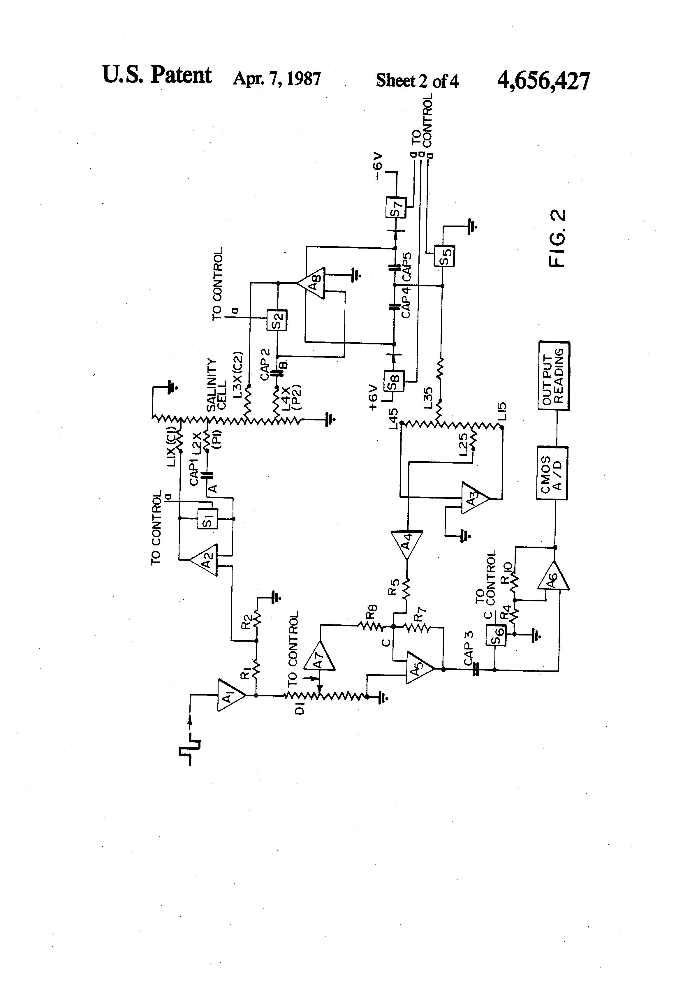 patent us4656427 - liquid conductivity measuring circuit