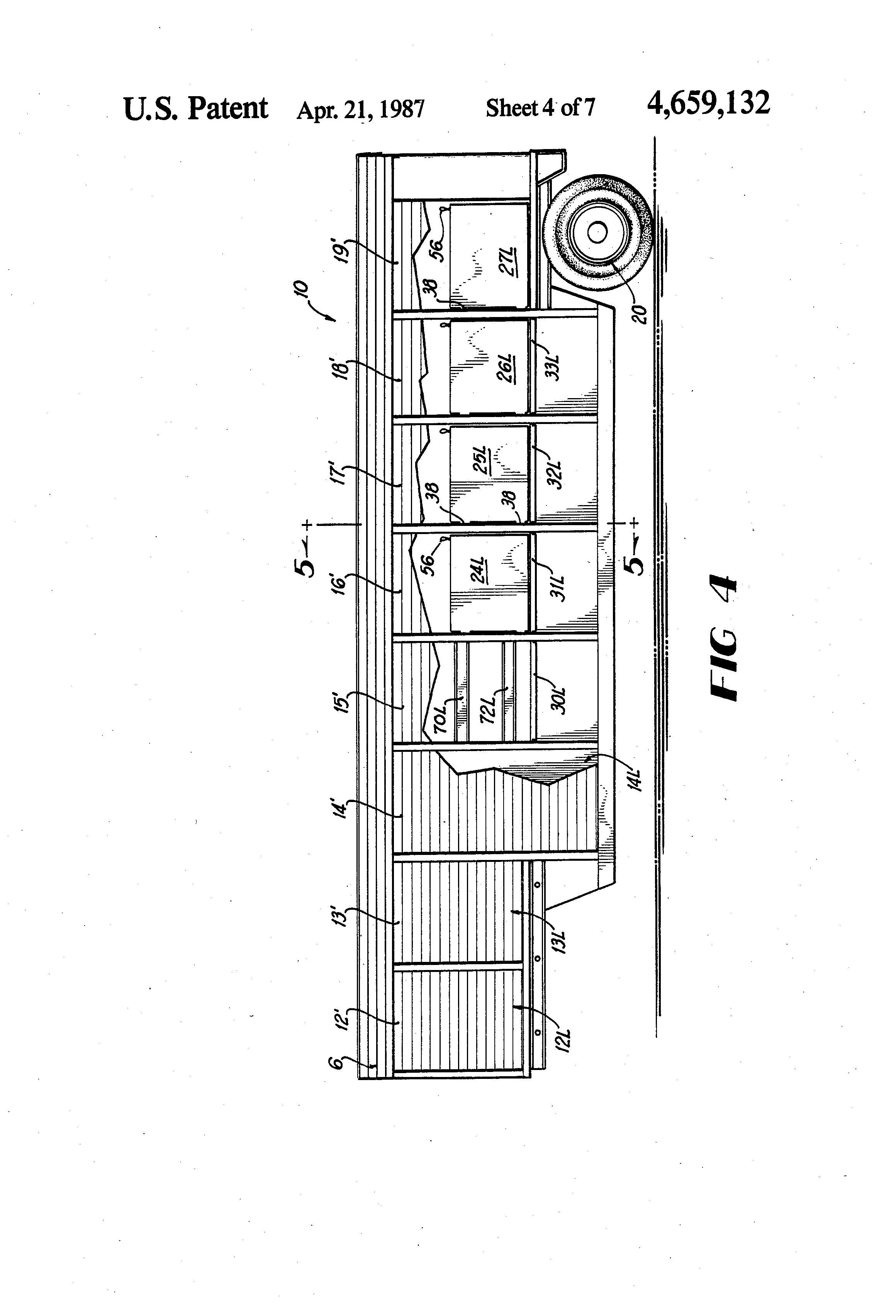 patent us convertible beverage body for delivery truck or patent drawing