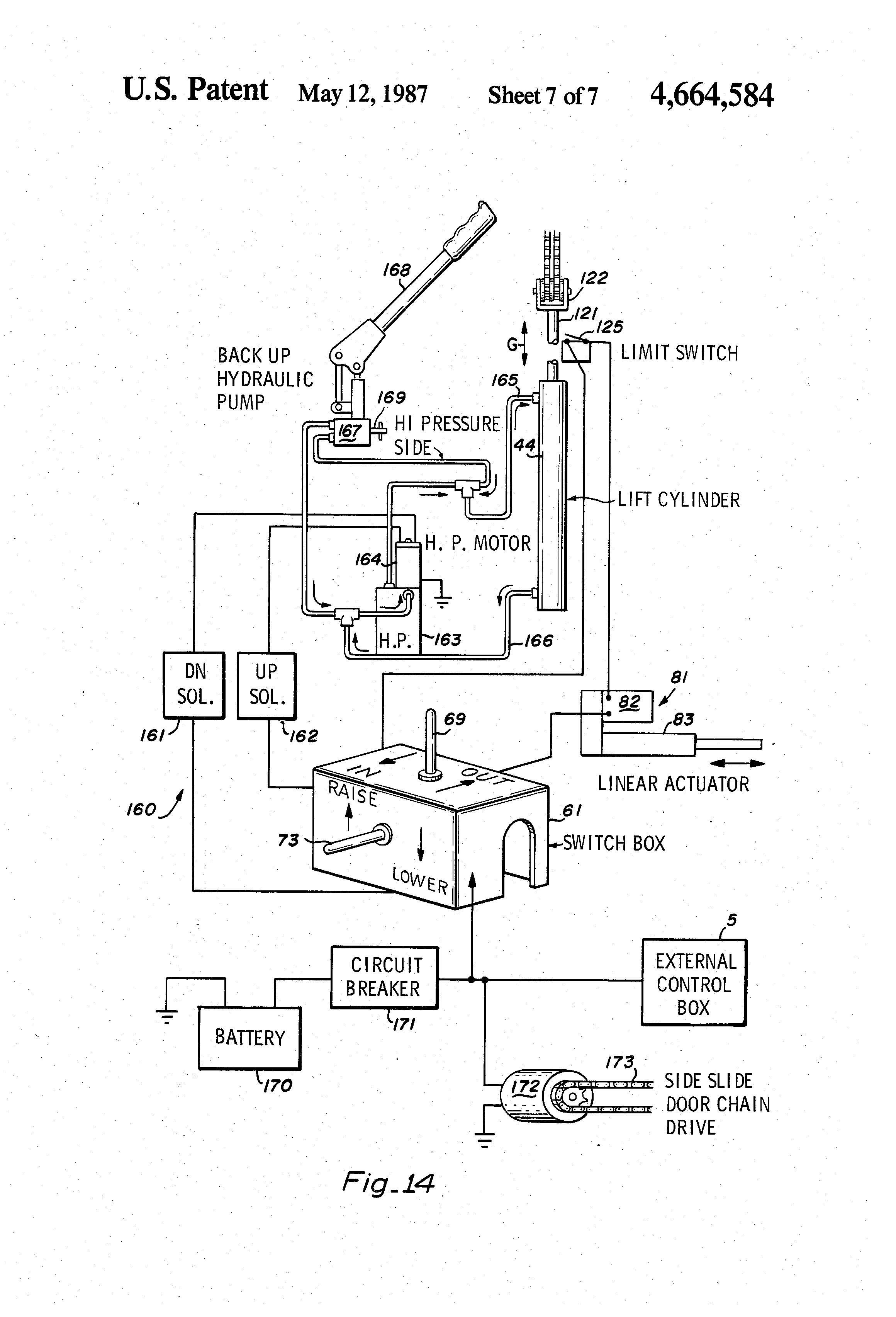 patent us4664584 rotary wheelchair lift patents