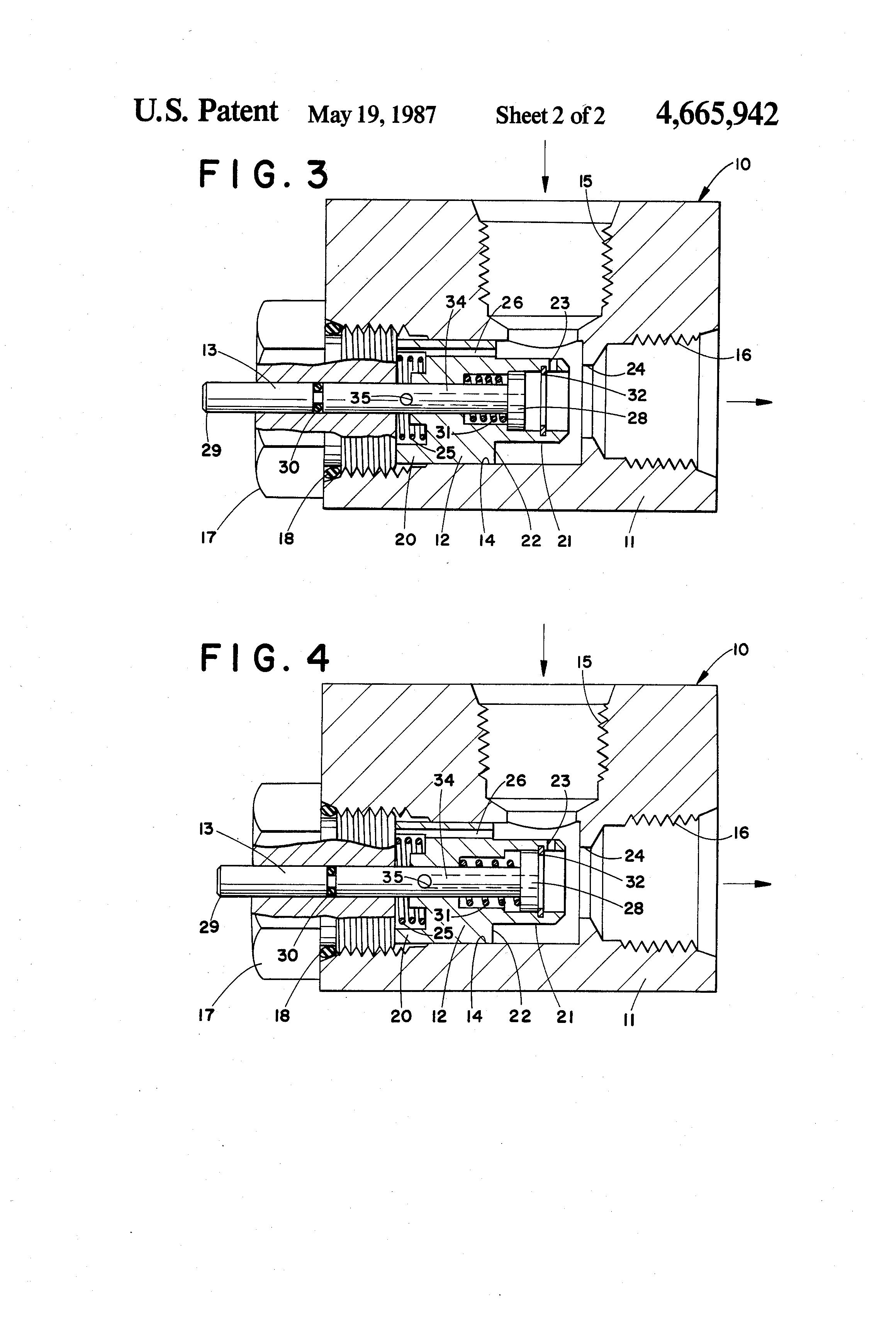 patent us4665942 - hydraulic pressure fuse