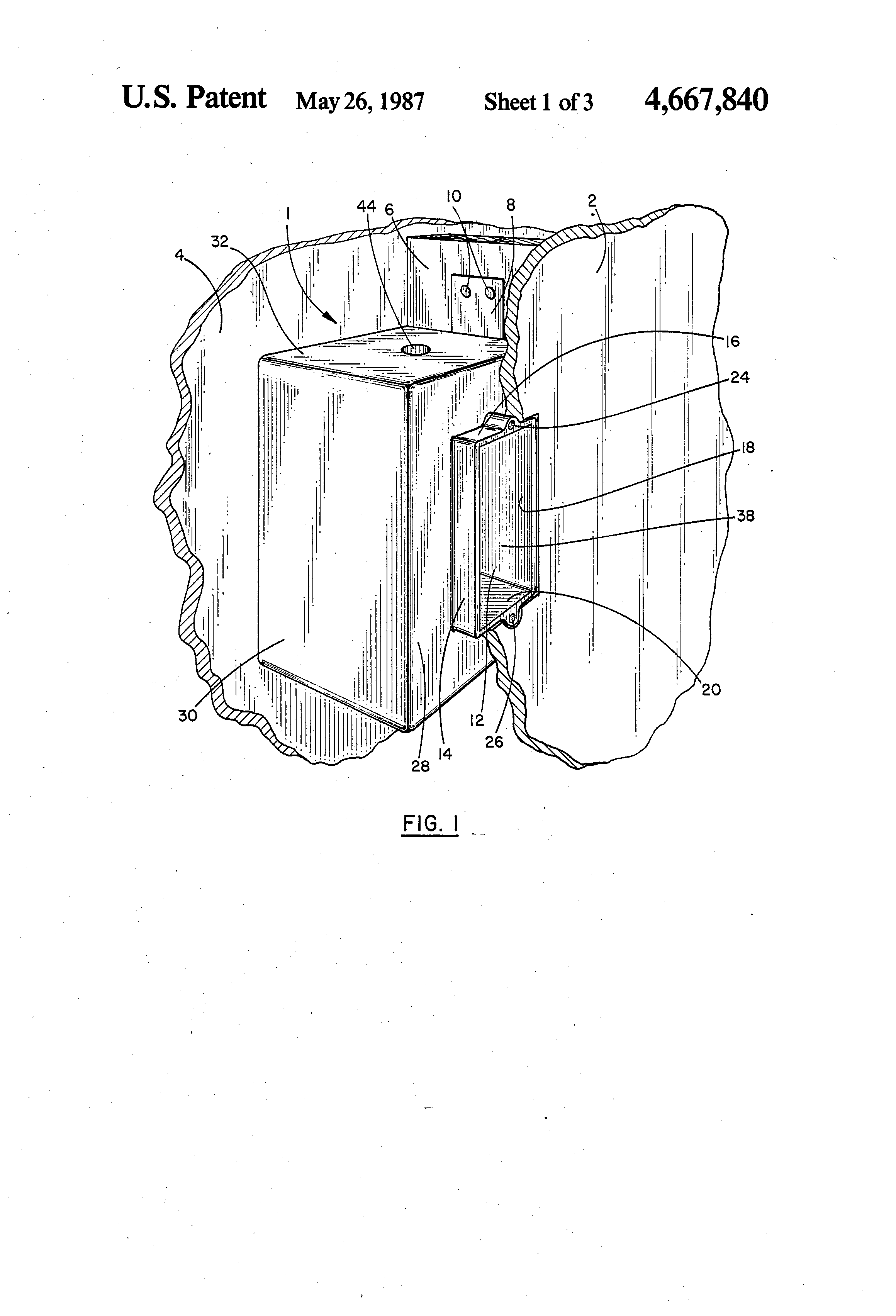 patent us4667840 - fire-resistant electrical junction boxes and method of manufacture
