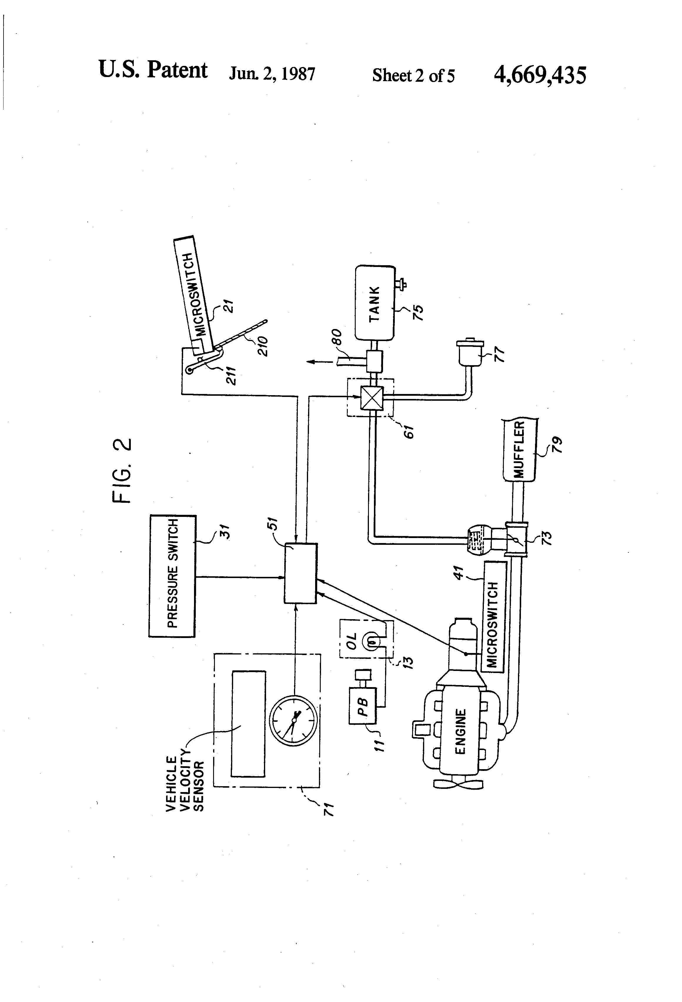 Patent Us4669435 - Exhaust Brake Control System