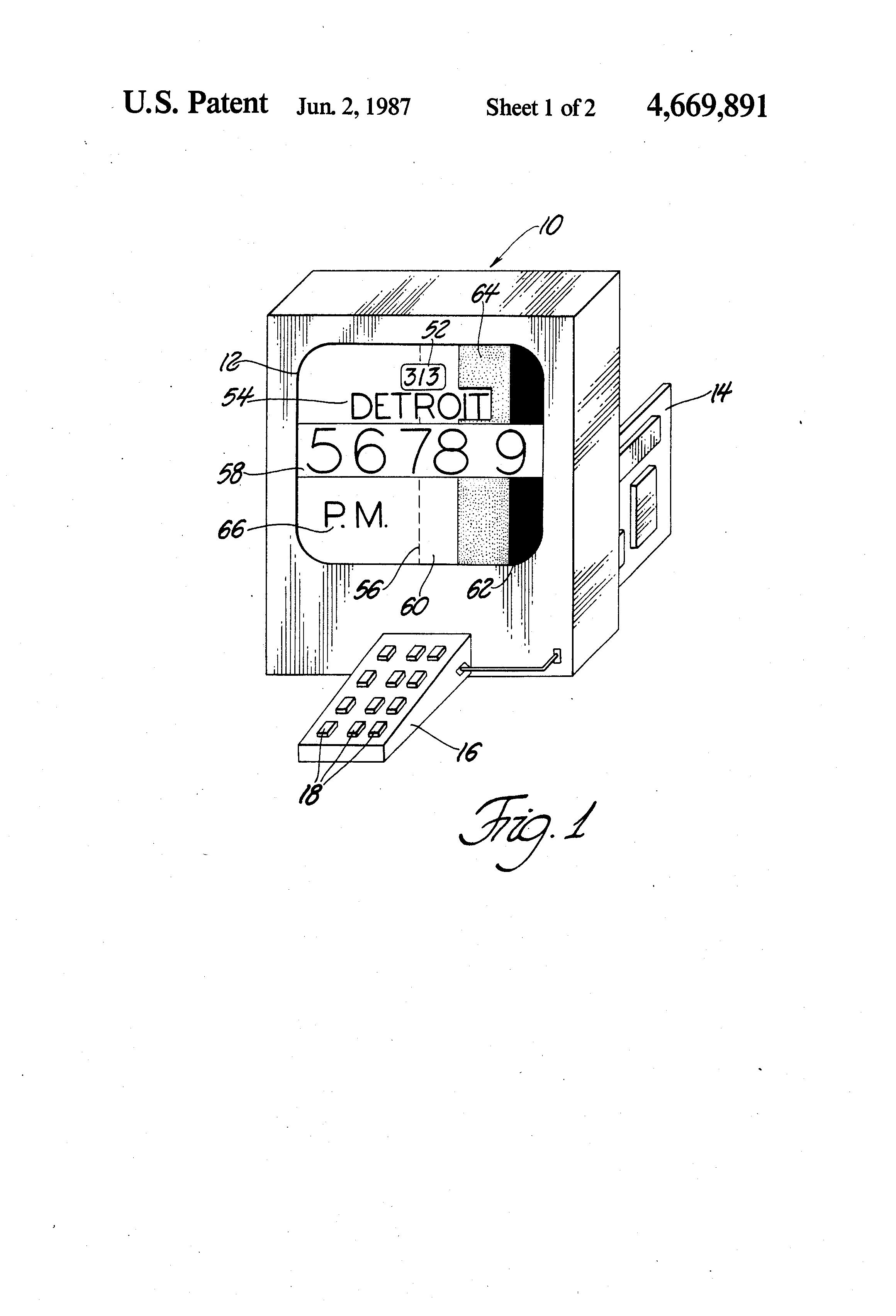 Patente US4669891 Area code twilight clock Google Patentes