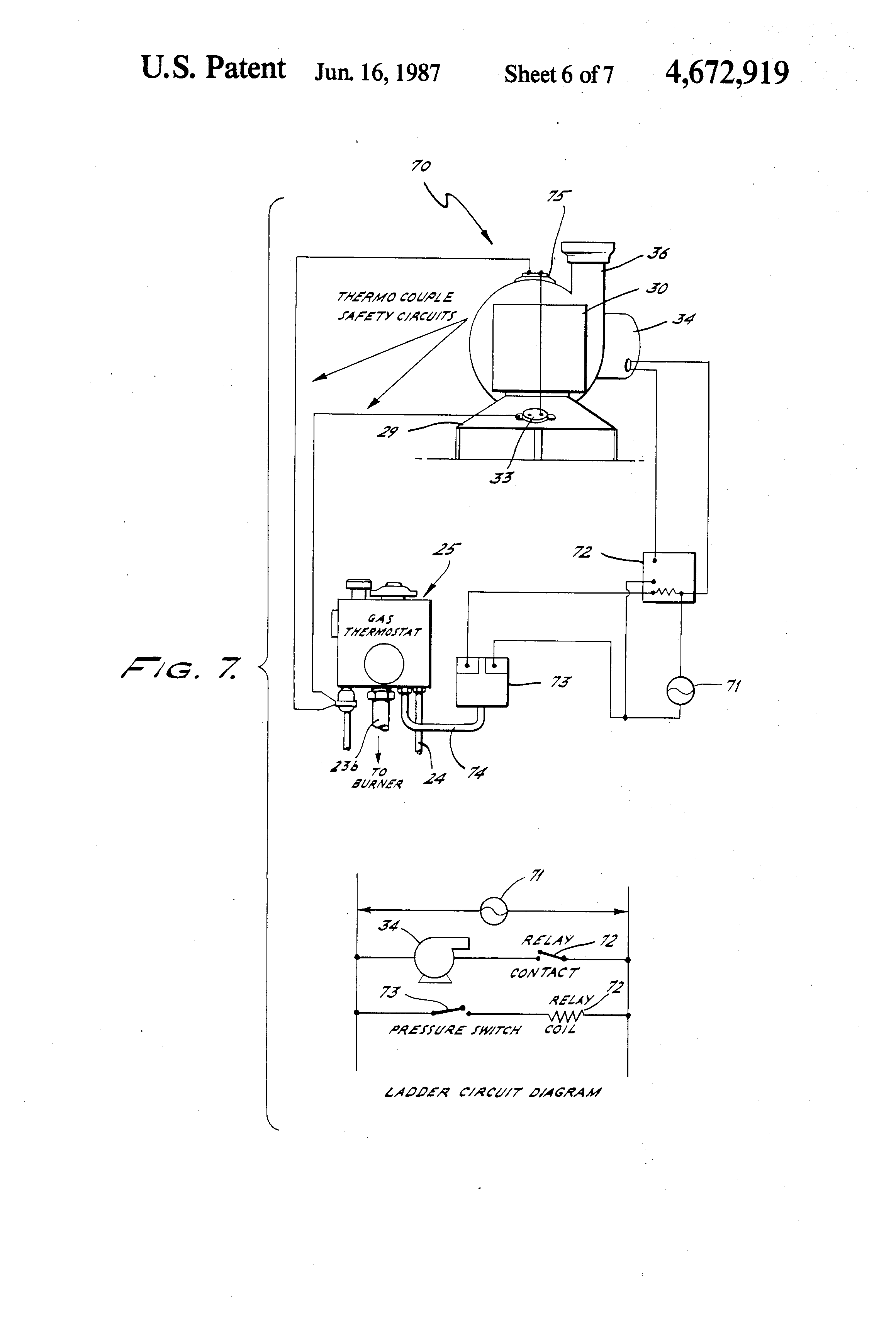 patent us4672919 direct power vented water heater google patents patent drawing