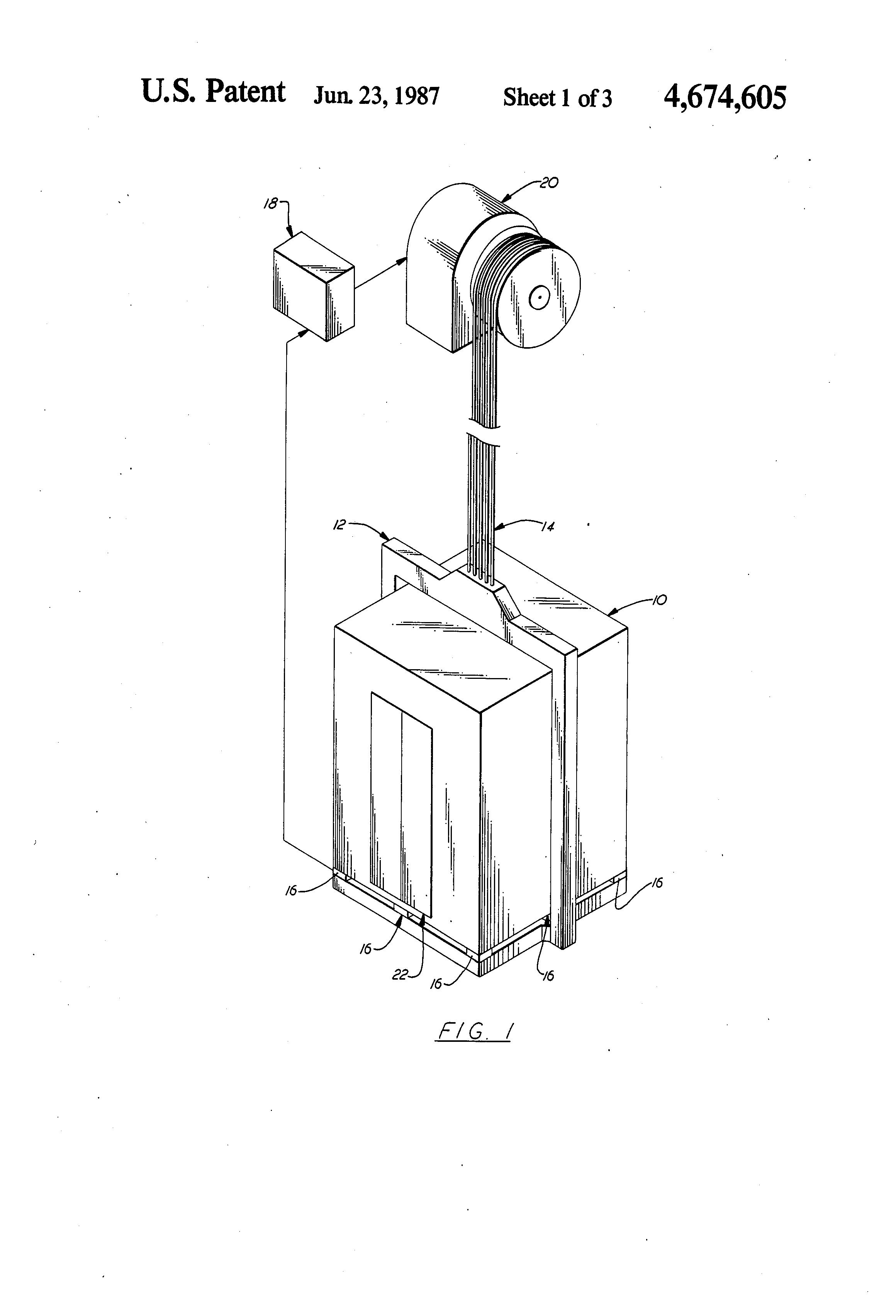 patent us4674605 - automatic elevator load sensor calibration system
