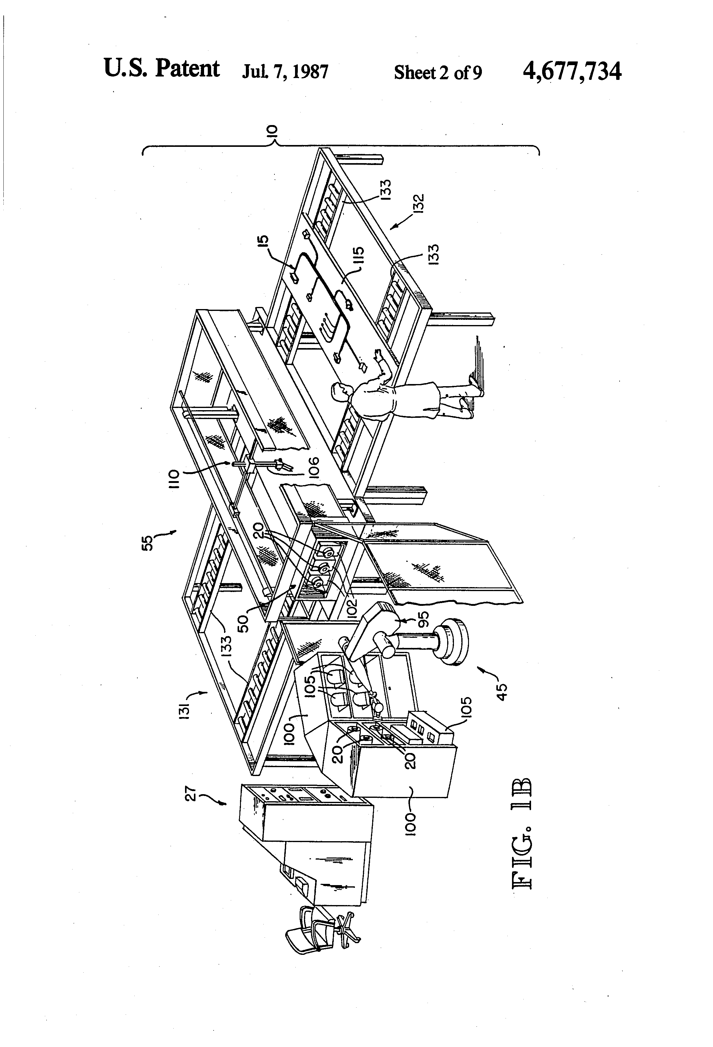 patent us4677734 - robotic wire harness assembly system