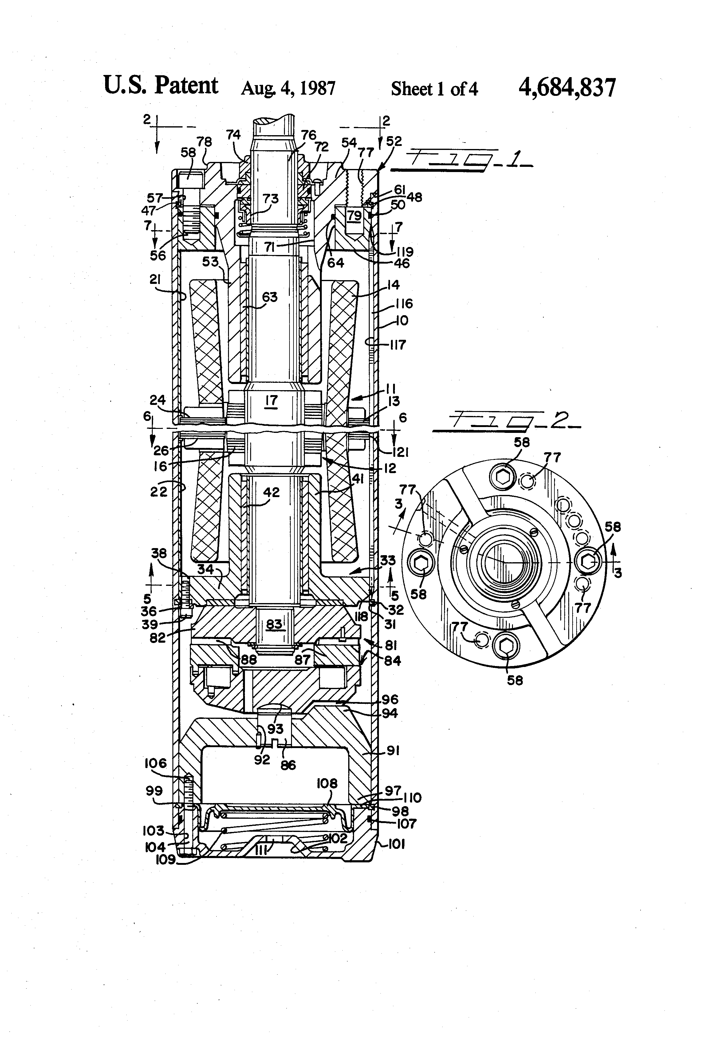 Patent us4684837 electric submersible motor with dual for Old ben franklin motors inventory