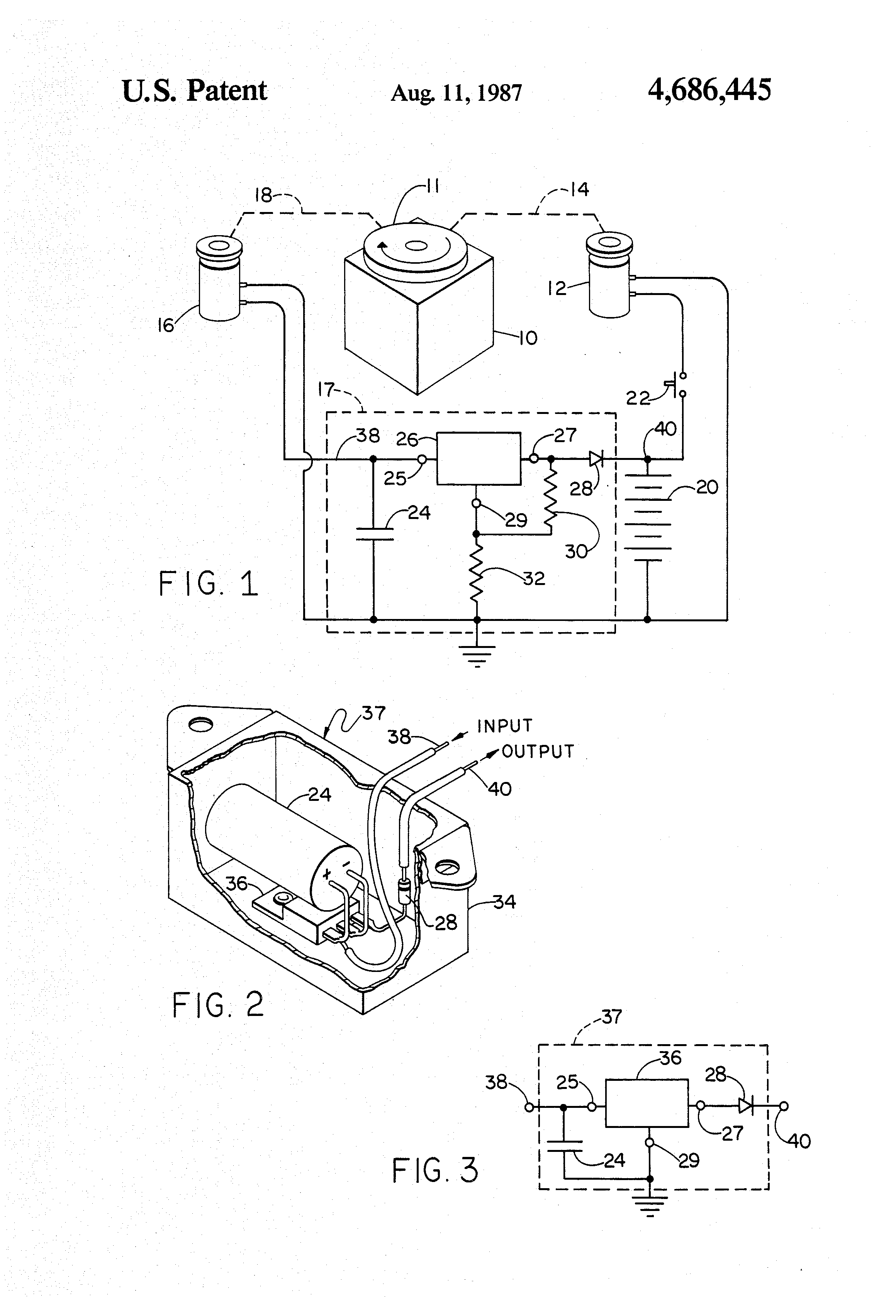Patent Us4686445 - Voltage Regulator For Lawn Mower Engine Battery Charger