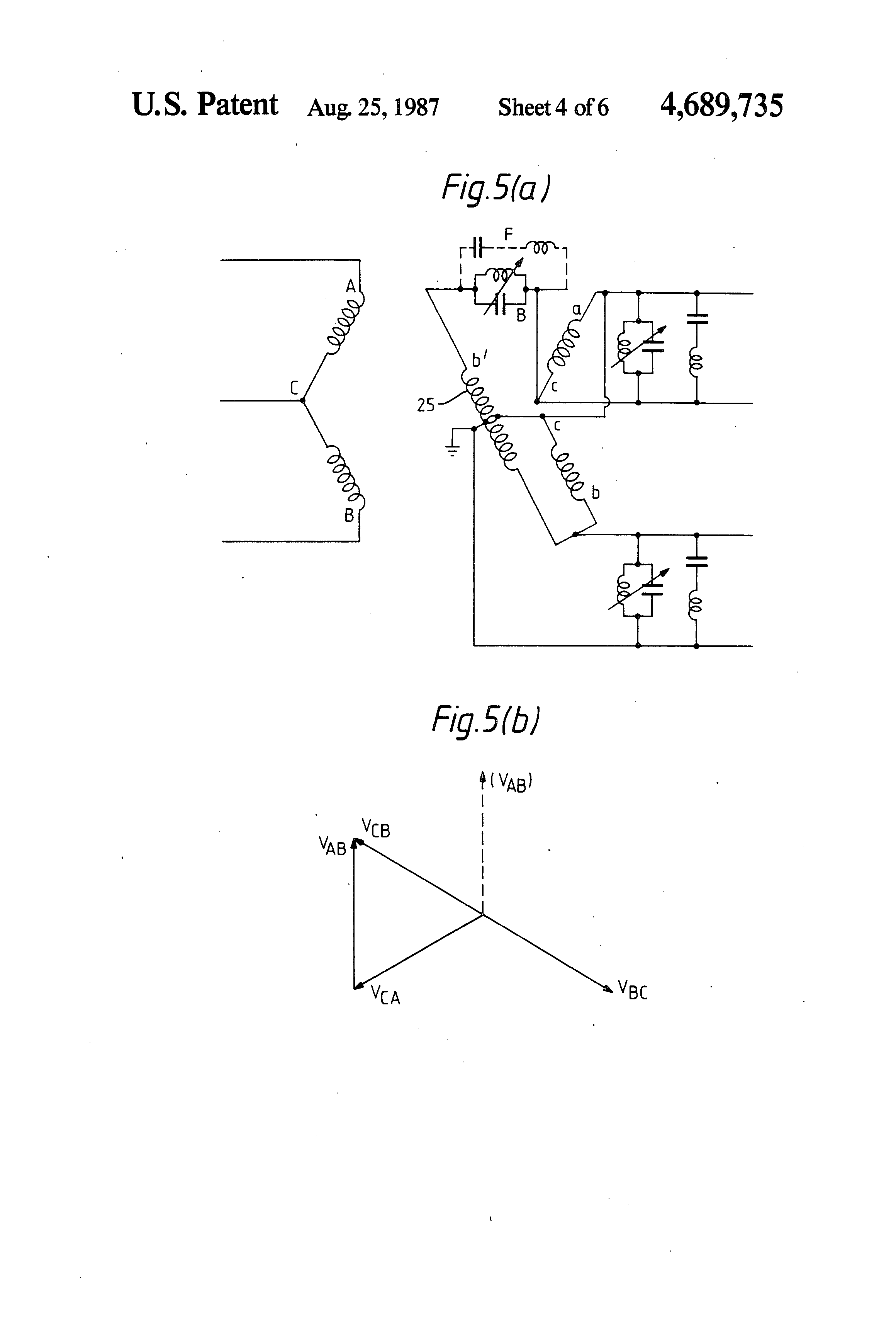 patent us4689735 - power supply for single-phase traction system