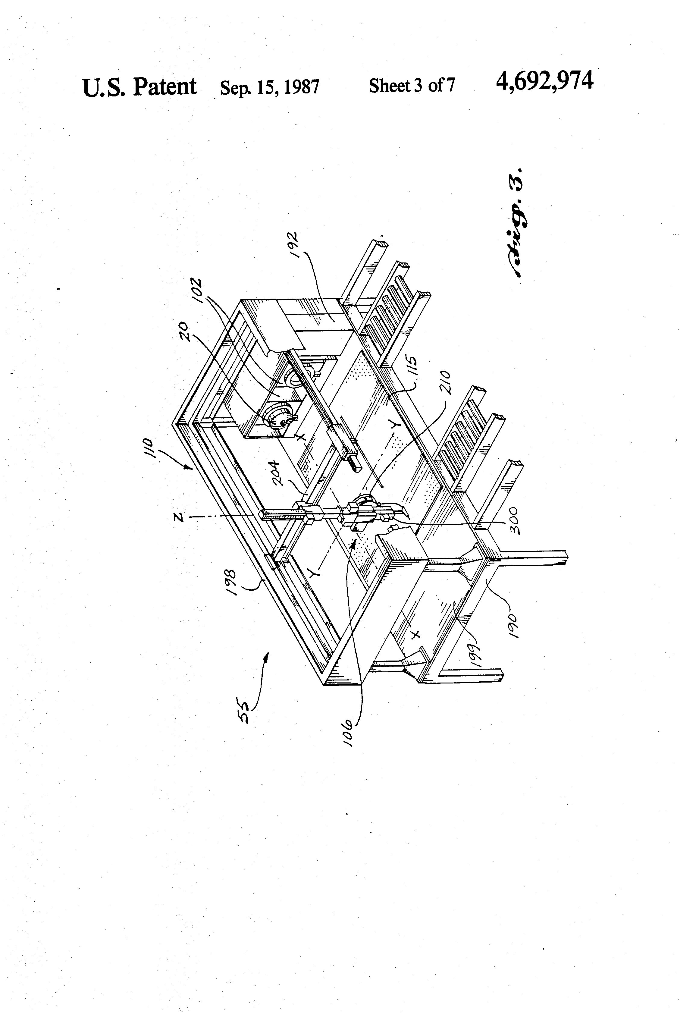Patent Us4692974 Connector Block For Use With A Robotic Wire Helical Harness Lay Drawing