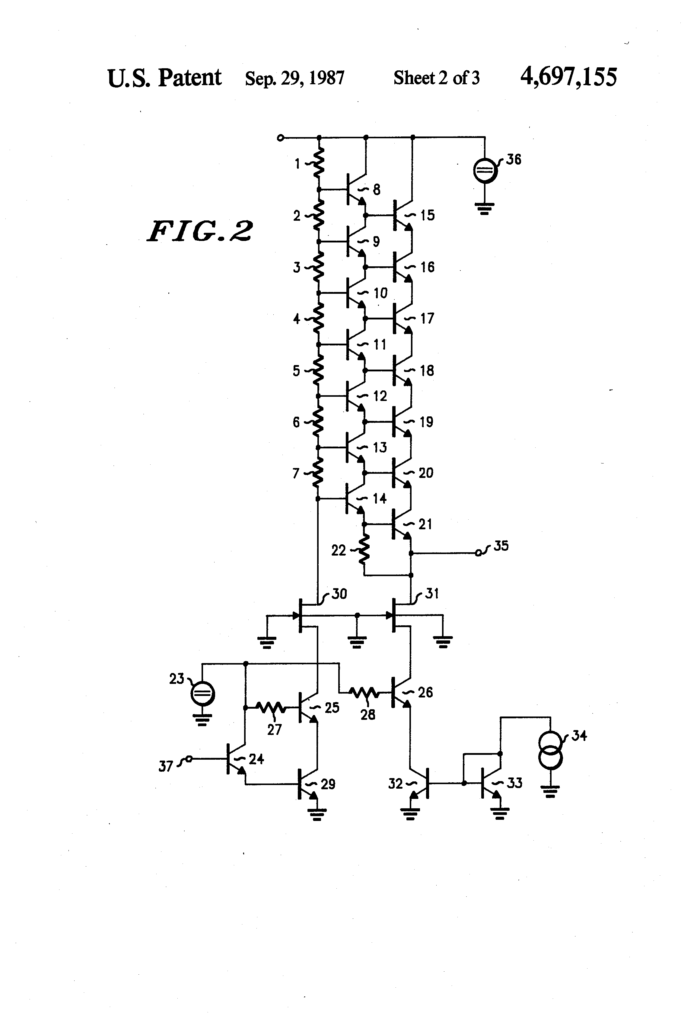 patent us4697155 - high voltage amplifier