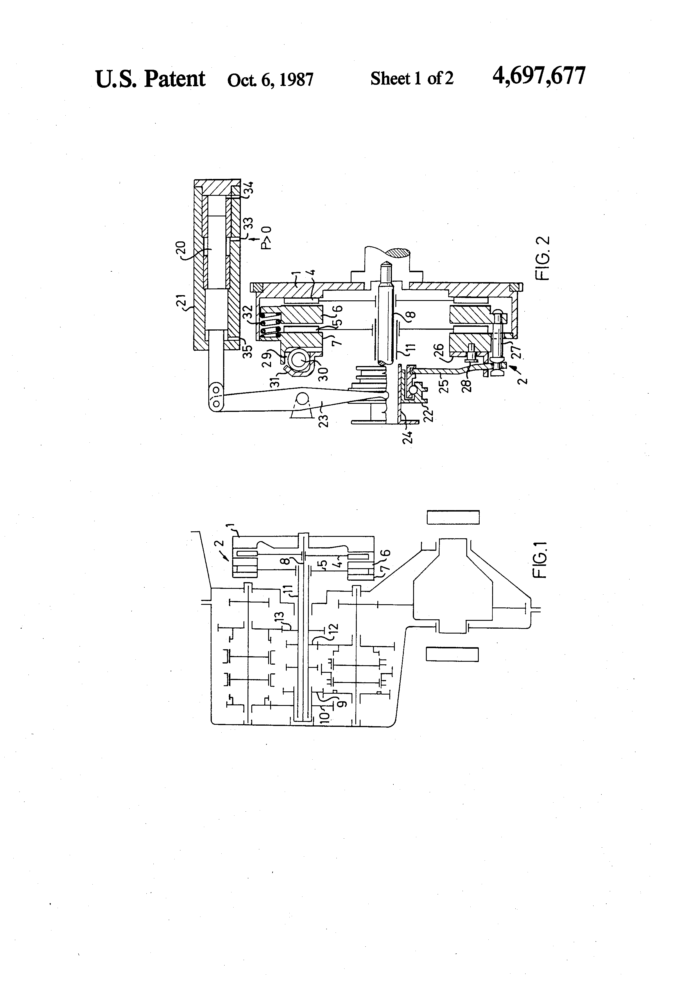 Patent Us4697677 Motor Vehicle Clutch For A Mechanical Multiple Automatic Transmission Diagram On Drawing