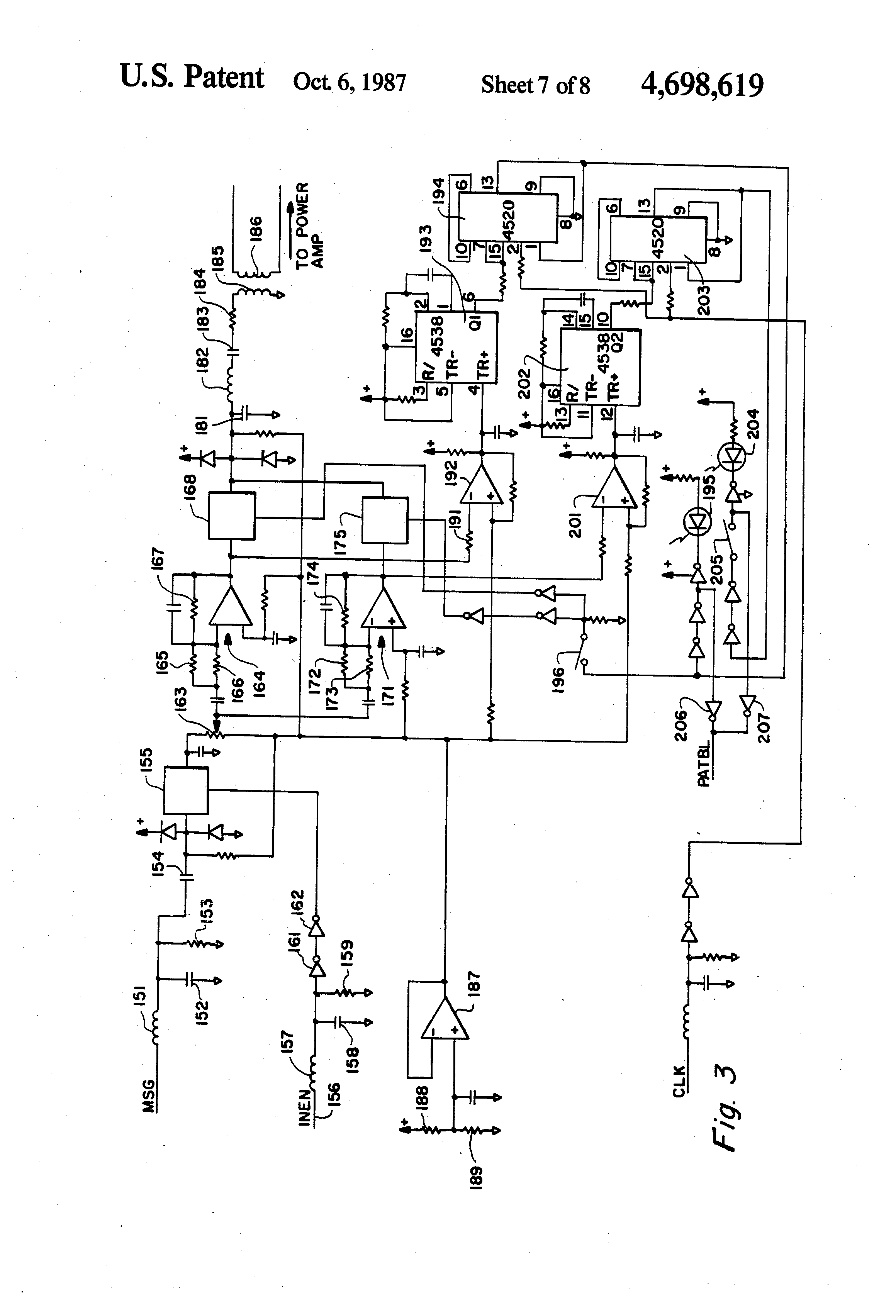 patent us4698619 - variable frequency fire tone generator
