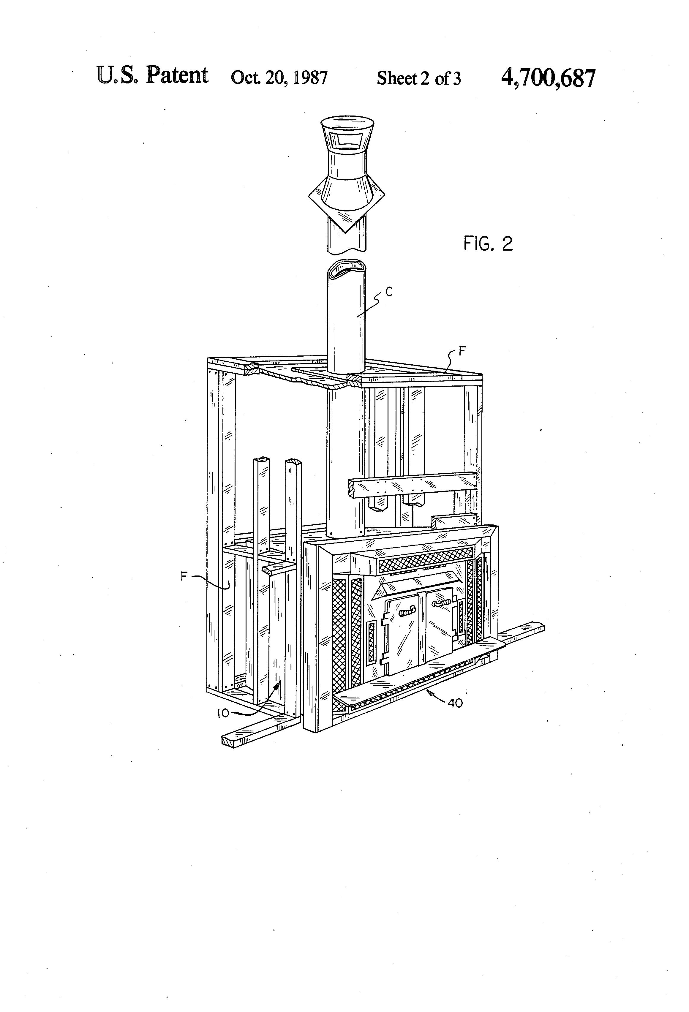 patent us4700687 prefabricated convertible fireplace google