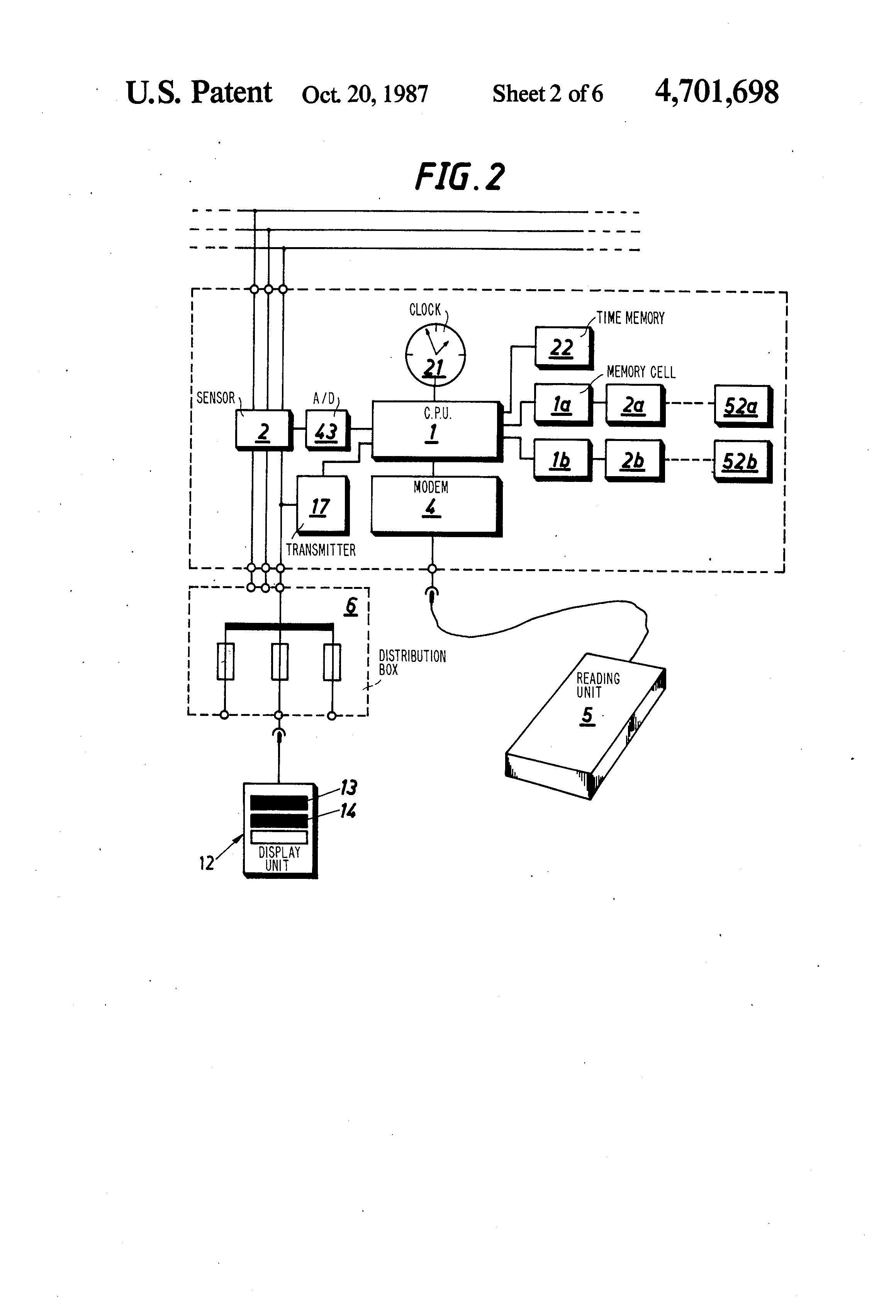 Patent Us4701698 Microprocessor Based Energy Consumption Meter   On Switch Diagram Box Load Wiring Variationsfrom #80