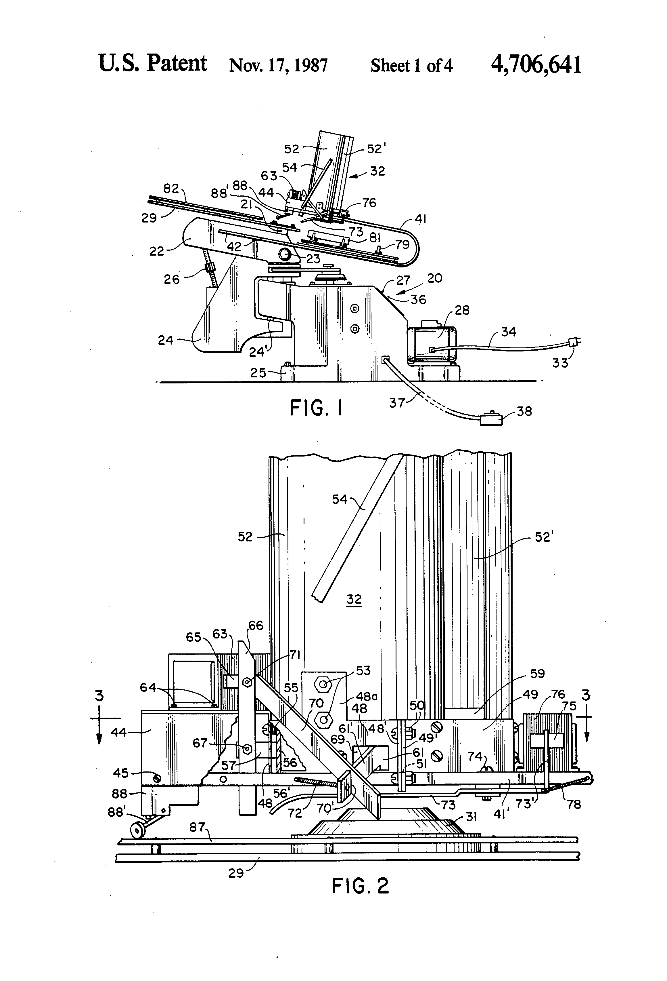 US4706641 1 patent us4706641 automatic clay target feeder attachment for laporte traps wiring diagram at bayanpartner.co
