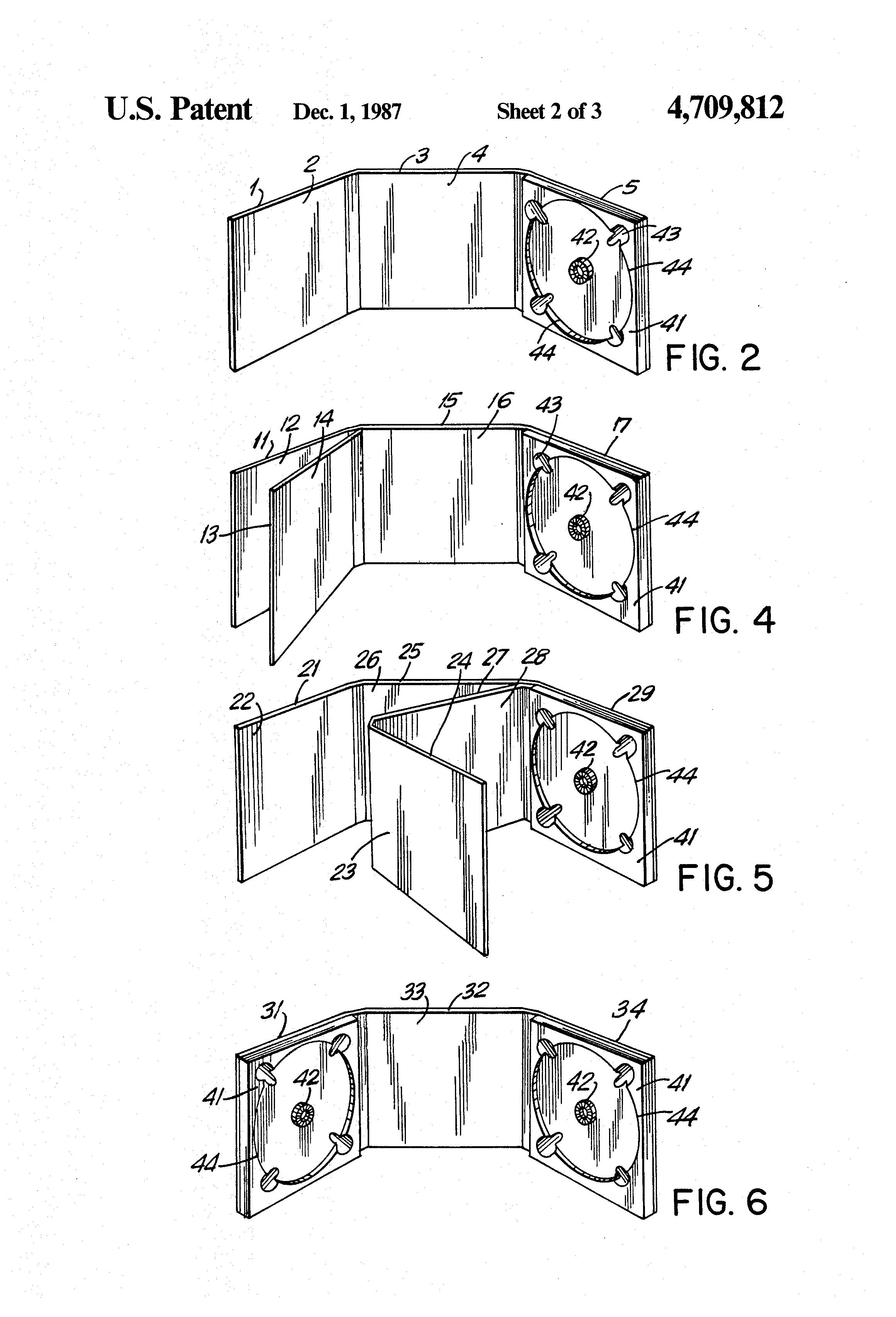 Original Patent Spec for Digipak