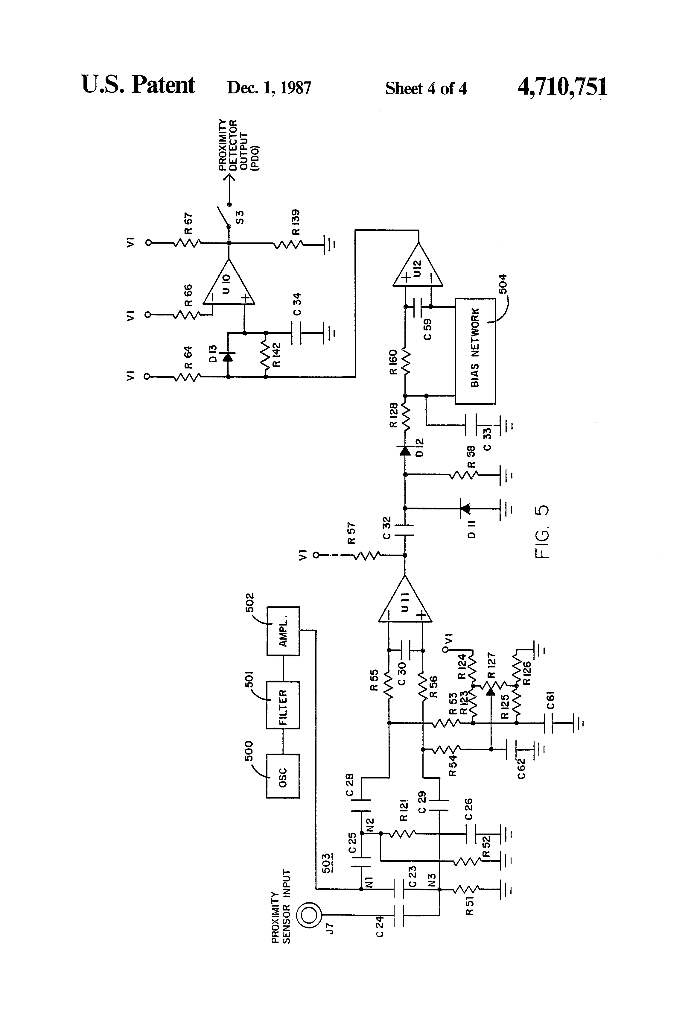 patent us4710751 - ground fault monitor circuit