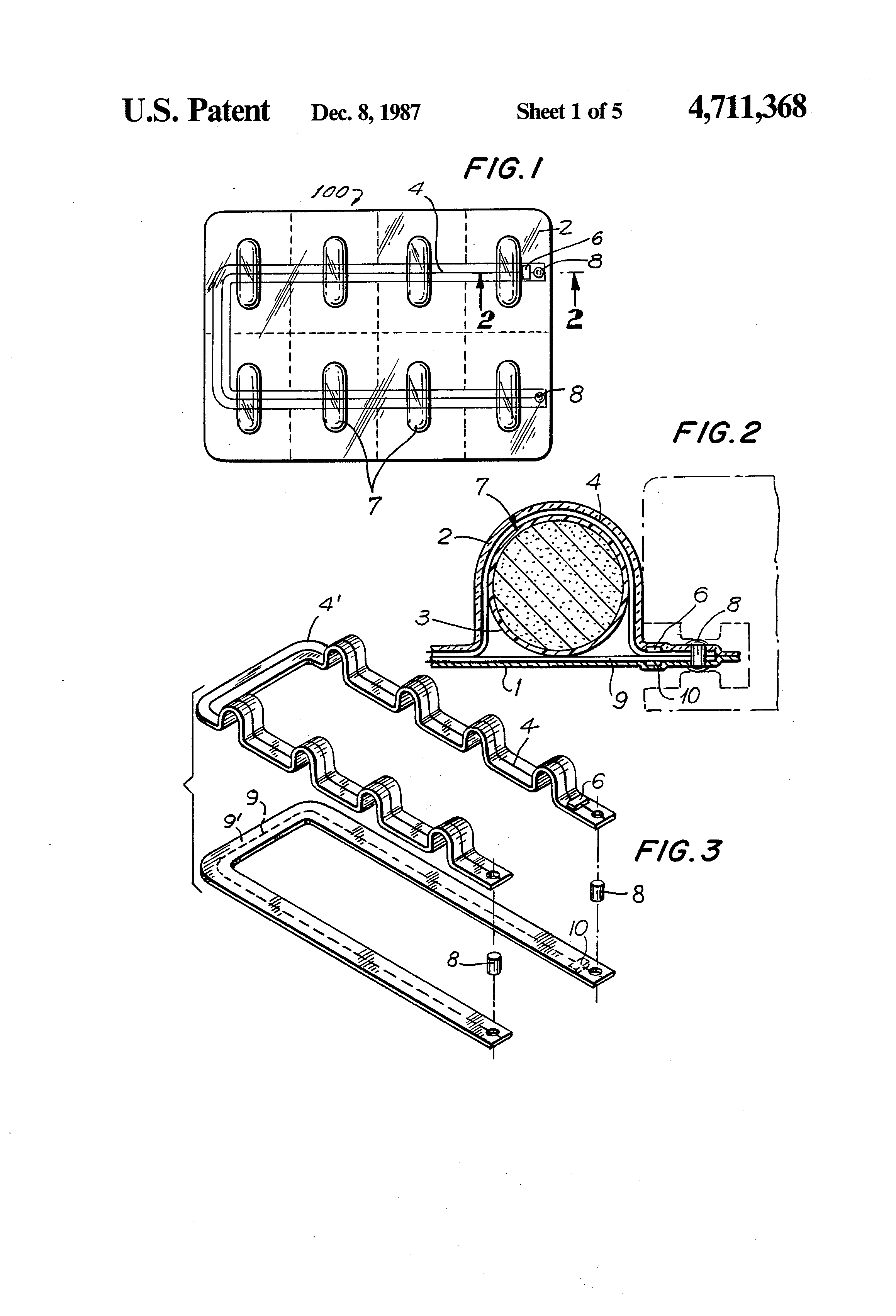 Brevet Us4711368 Tamper Proof Package With Electrical Circuit Trigon Wiring Diagram Patent Drawing