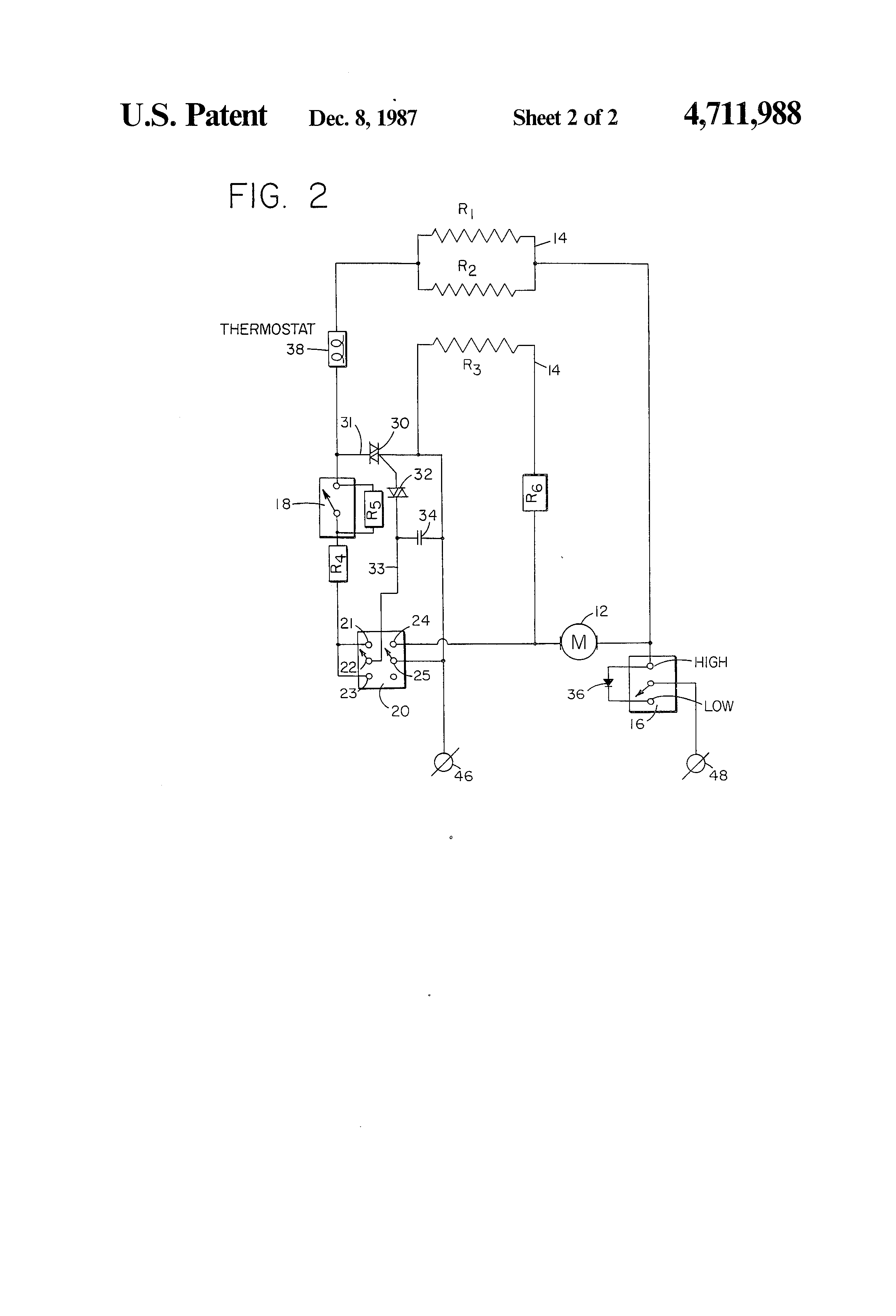 US4711988 2 patent us4711988 electric hair dryer with multi mode switch for hair dryer wiring diagram at gsmportal.co
