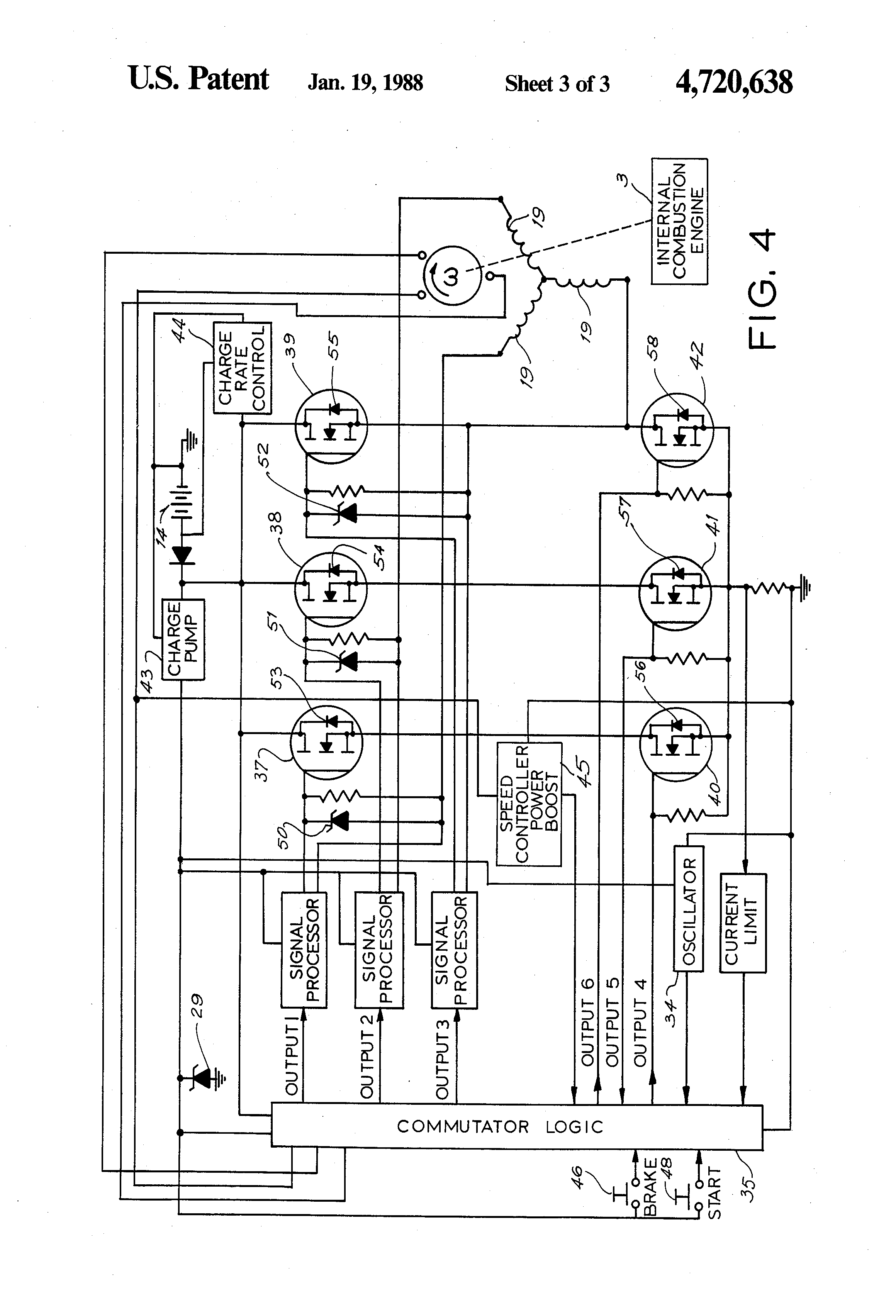 patent us4720638 electronically commutated coaxial starter motor patent drawing