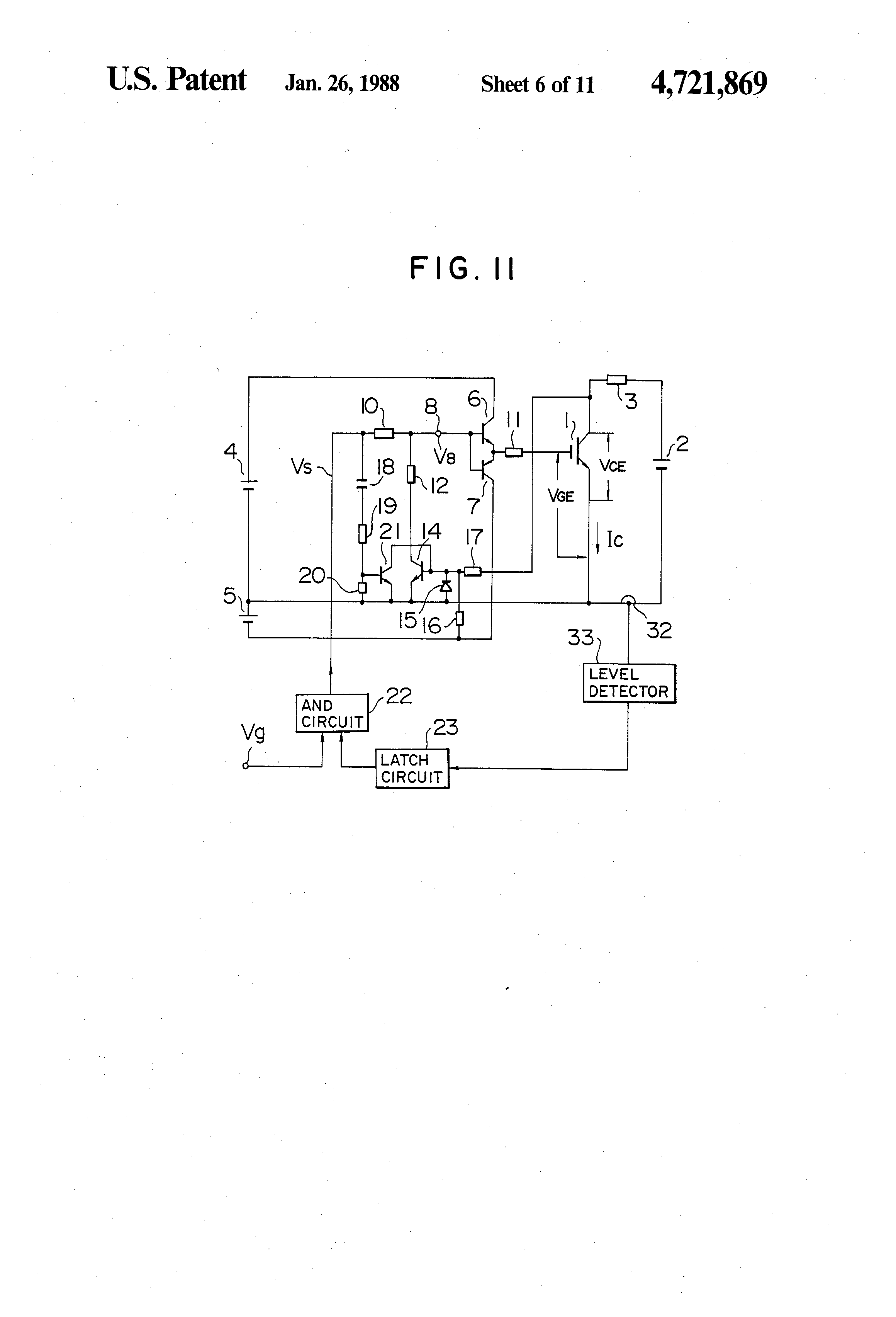 Patent Us4721869 Protection Circuit For An Insulated Gate Bipolar Latching Circuits Schematic Picture Drawing