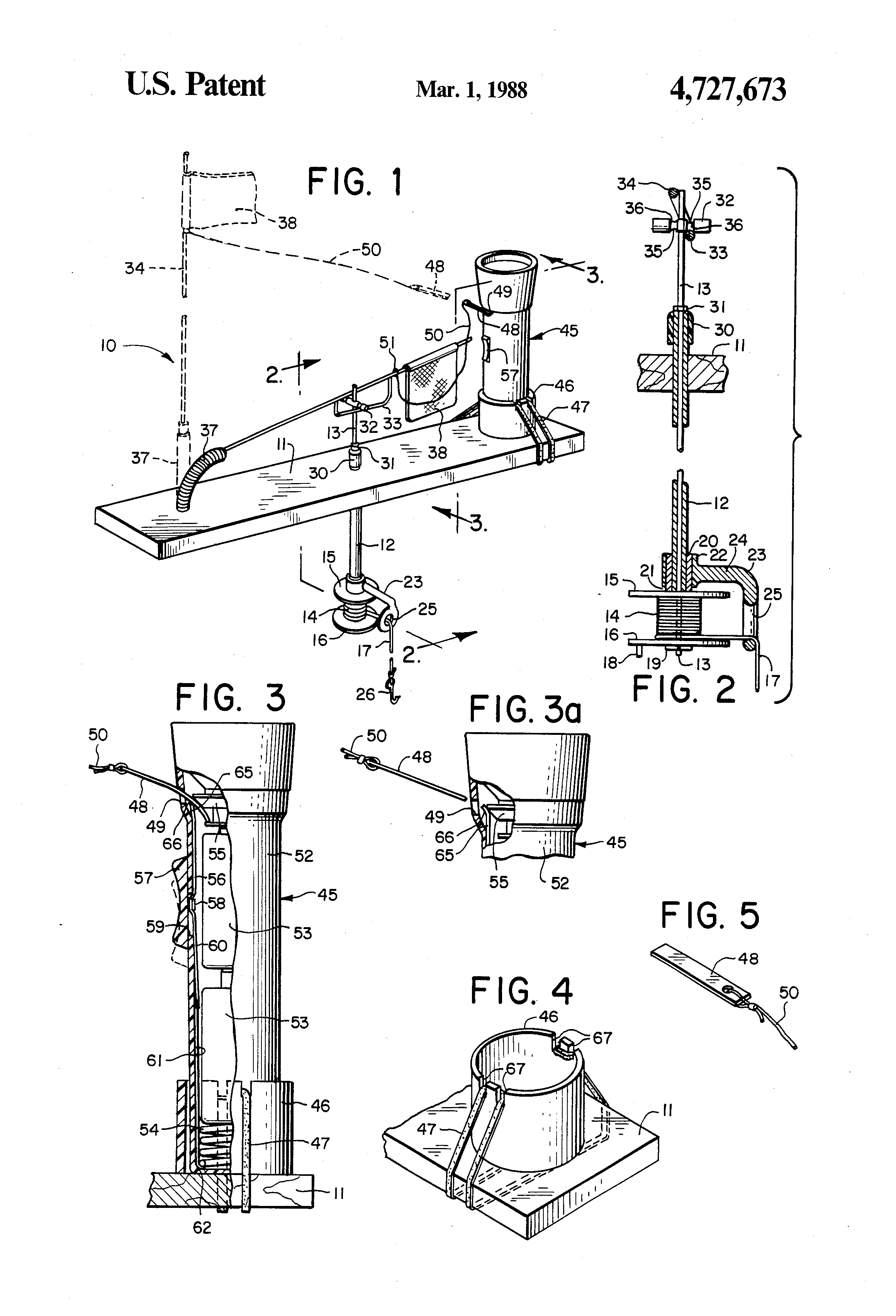 Patent us4727673 indicator light for an ice fishing tip for Tip up lights for ice fishing