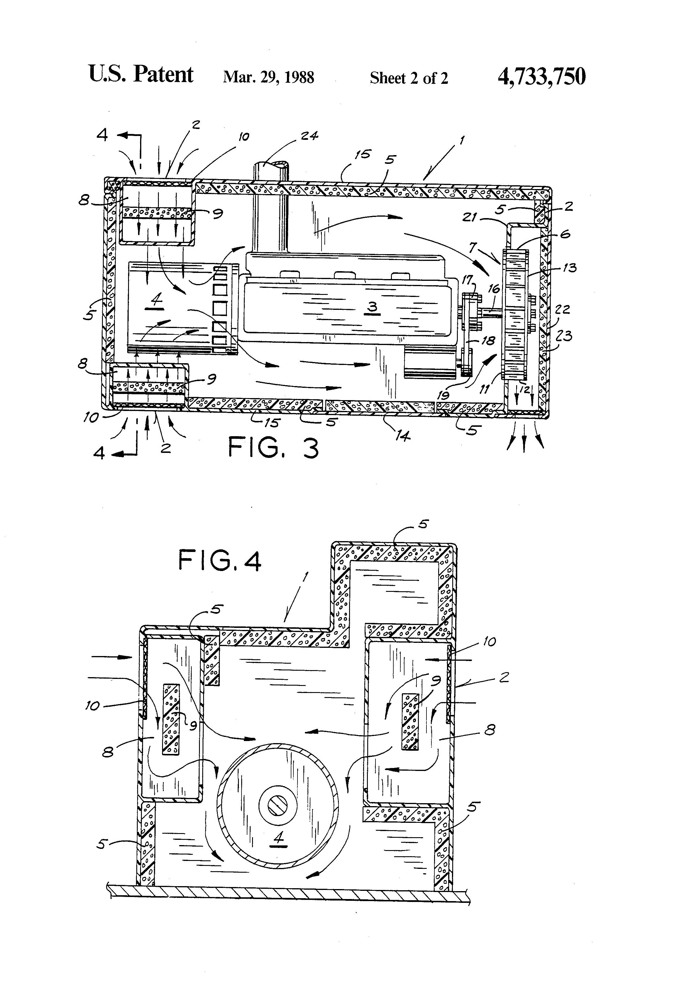 Patent Us4733750 Acoustic Enclosure For Marine Engine Generator Diesel Sound Effect Circuit Schematic Diagram Drawing