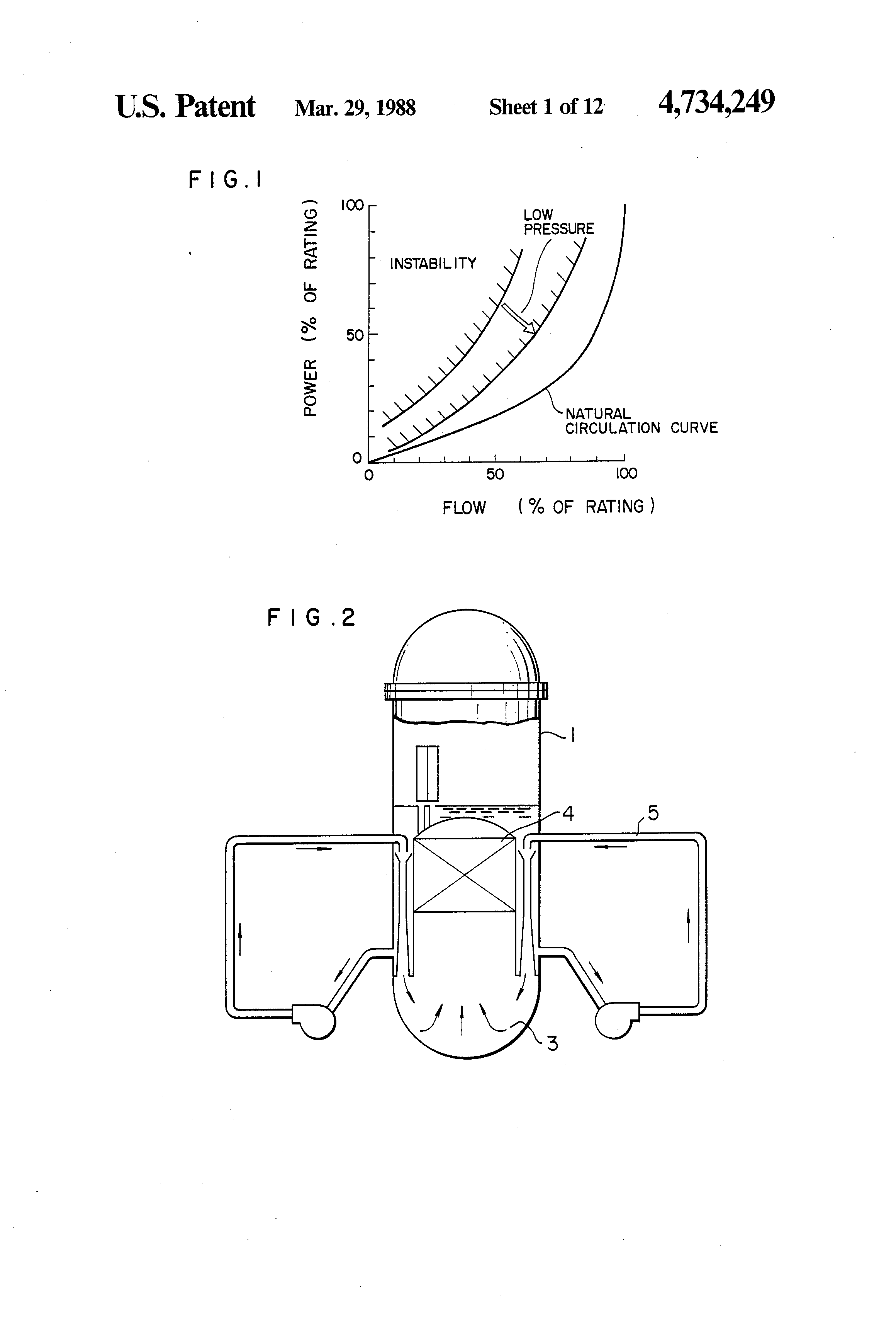 Patent Us4734249 Nuclear Reactor Start Up Method Google Patents Power Plant Flow Diagram Drawing