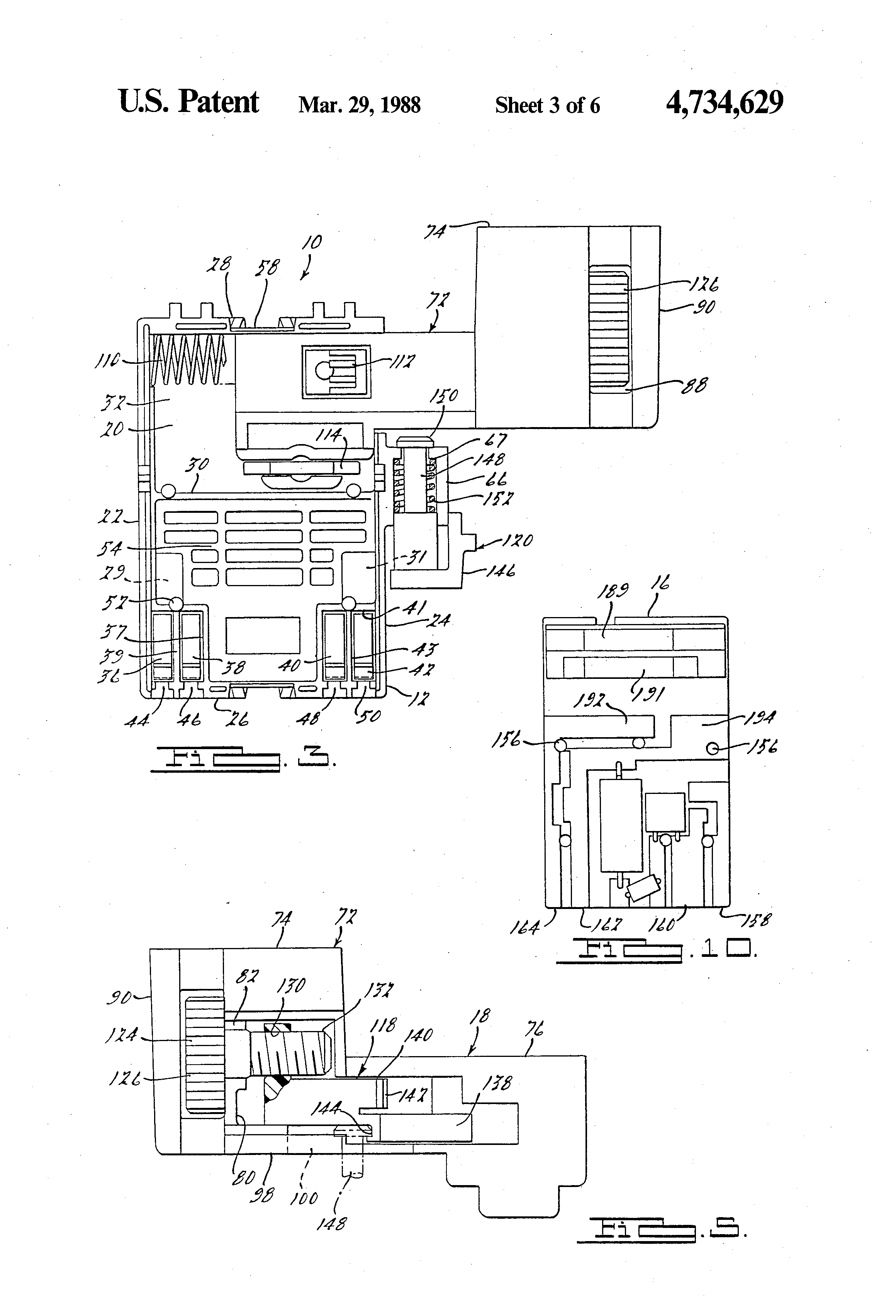 patent us4734629 - variable speed trigger switch