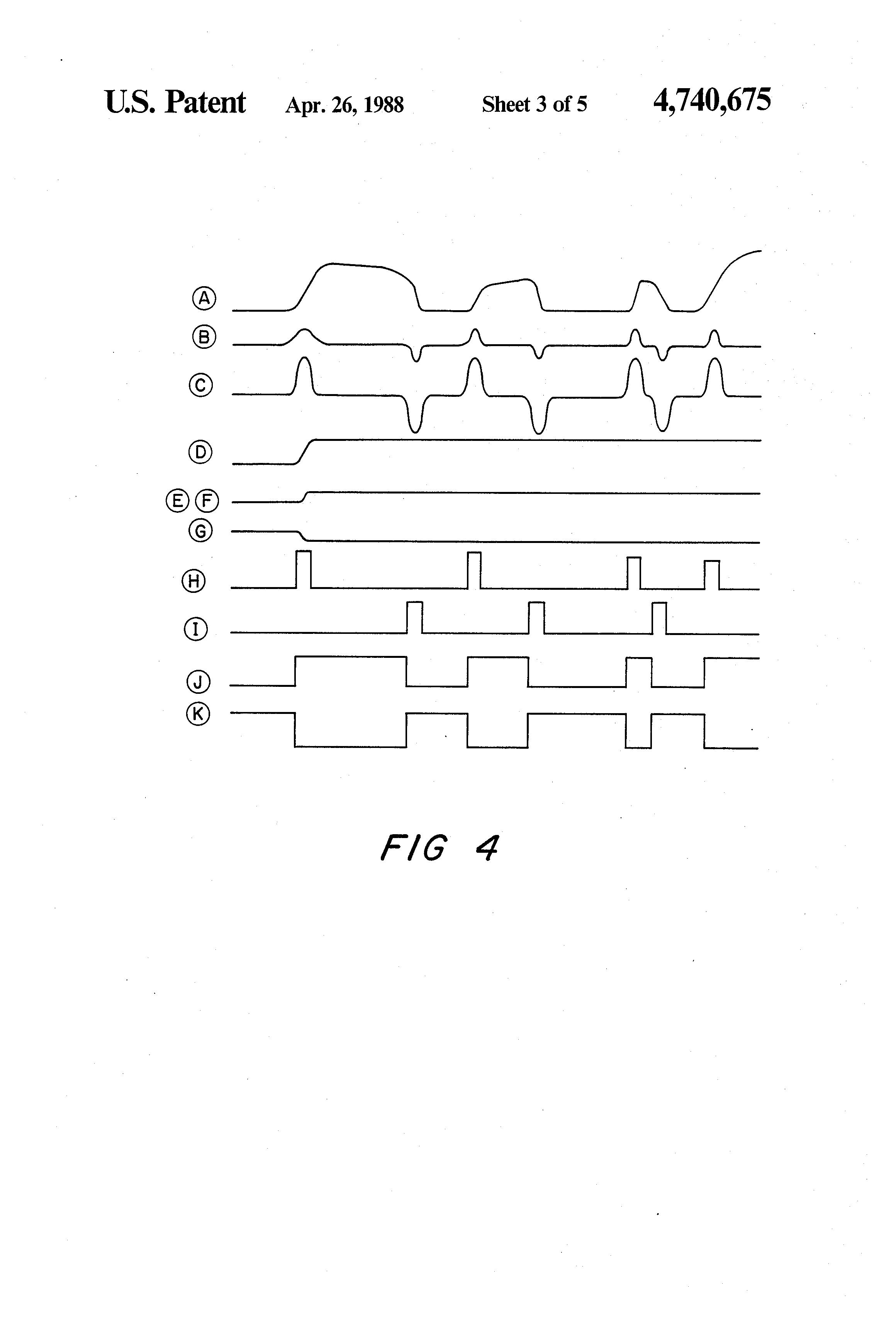 Positive Edge Detector Digital Circuit Download Wiring Diagrams Dark Patent Us4740675 Bar Code Slot Reader With Pulse