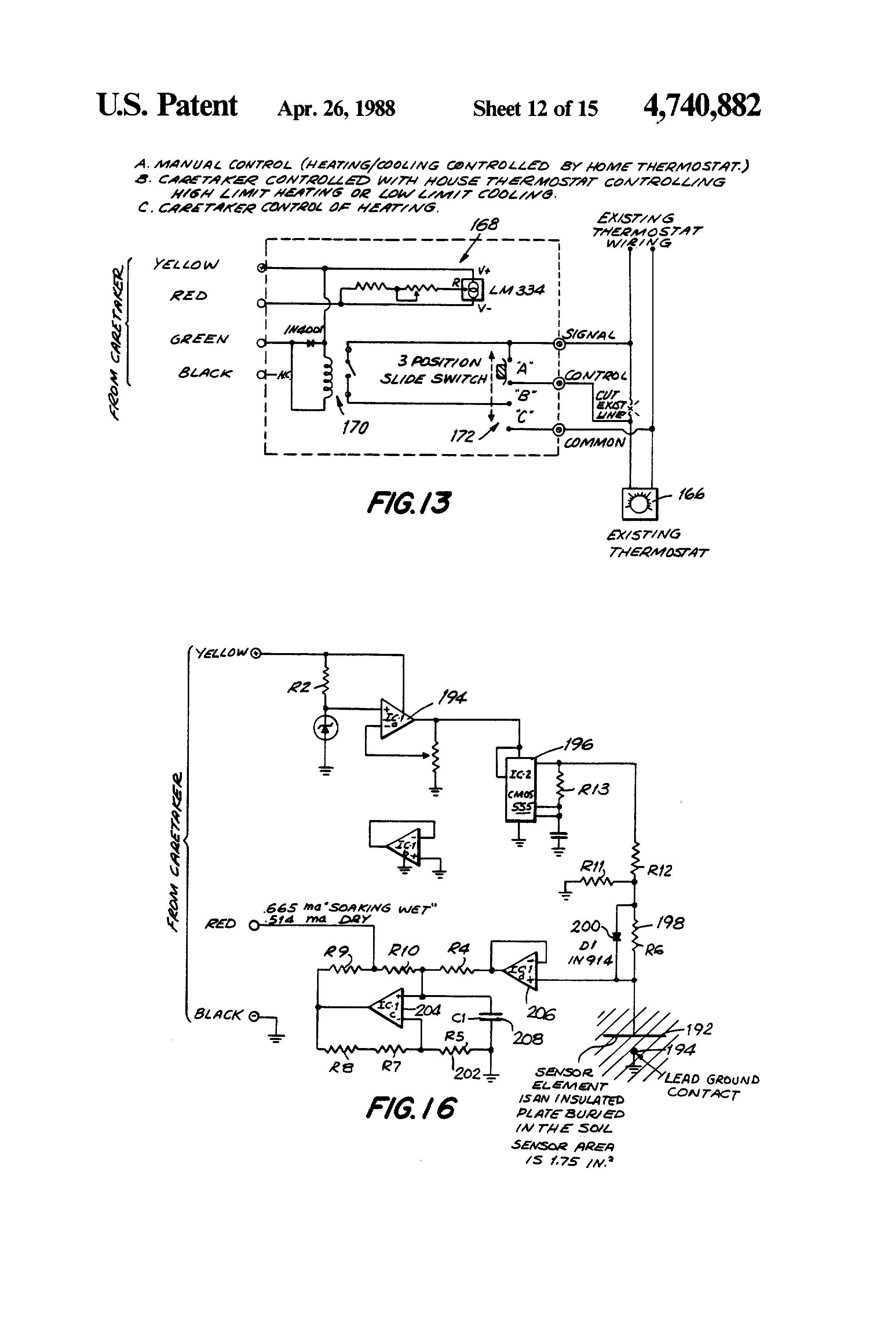 patent us4740882 slave processor for controlling environments patent drawing