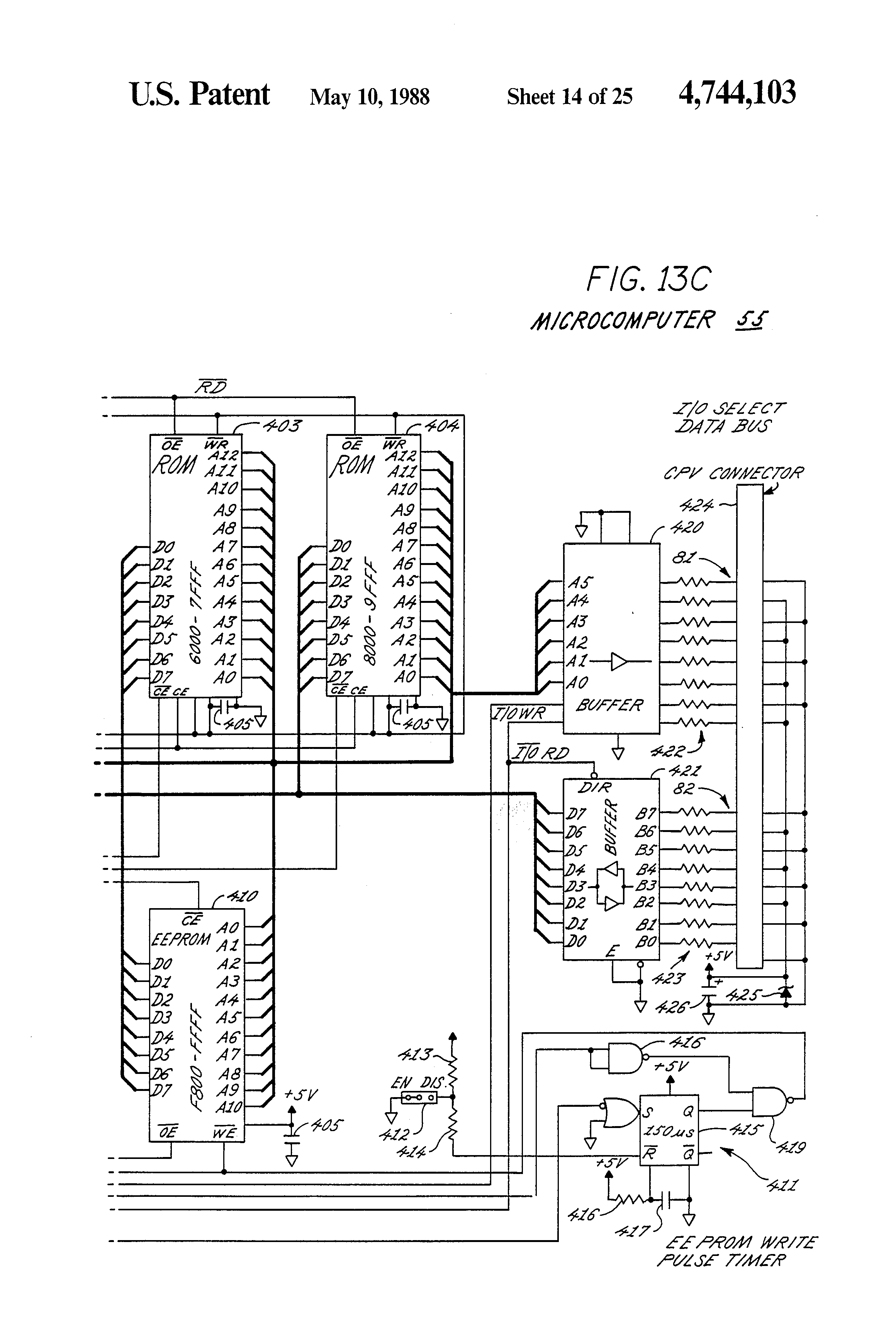 Patent Us4744103 Computer Controlled Multi Link Communication Double Led Flasher With 555 Timer And 4n25 Optocoupler Drawing