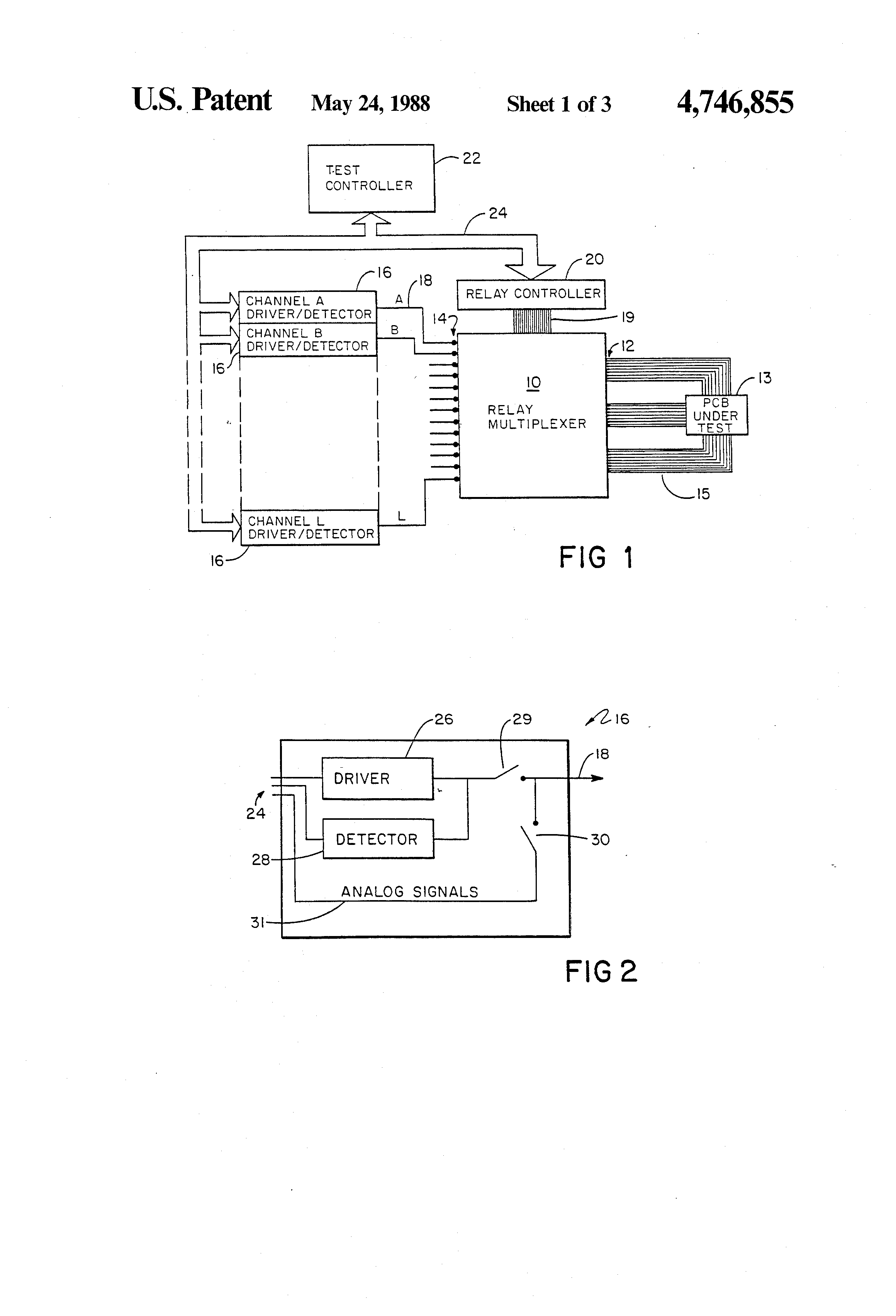 Patent Us4746855 Relay Multiplexing For Circuit Testers Google Tester Drawing