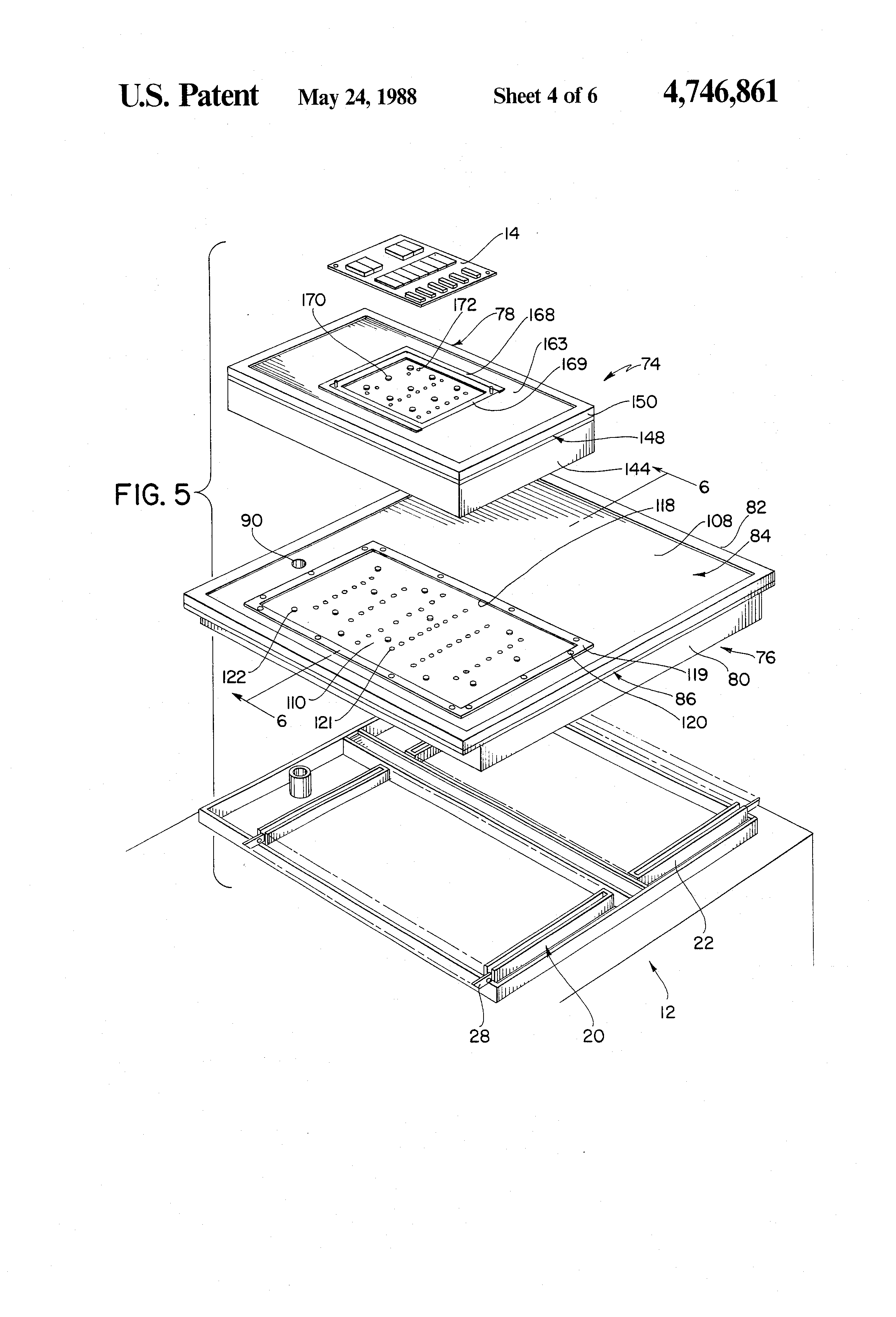 patent us4746861 - test fixture for printed circuit board assembly