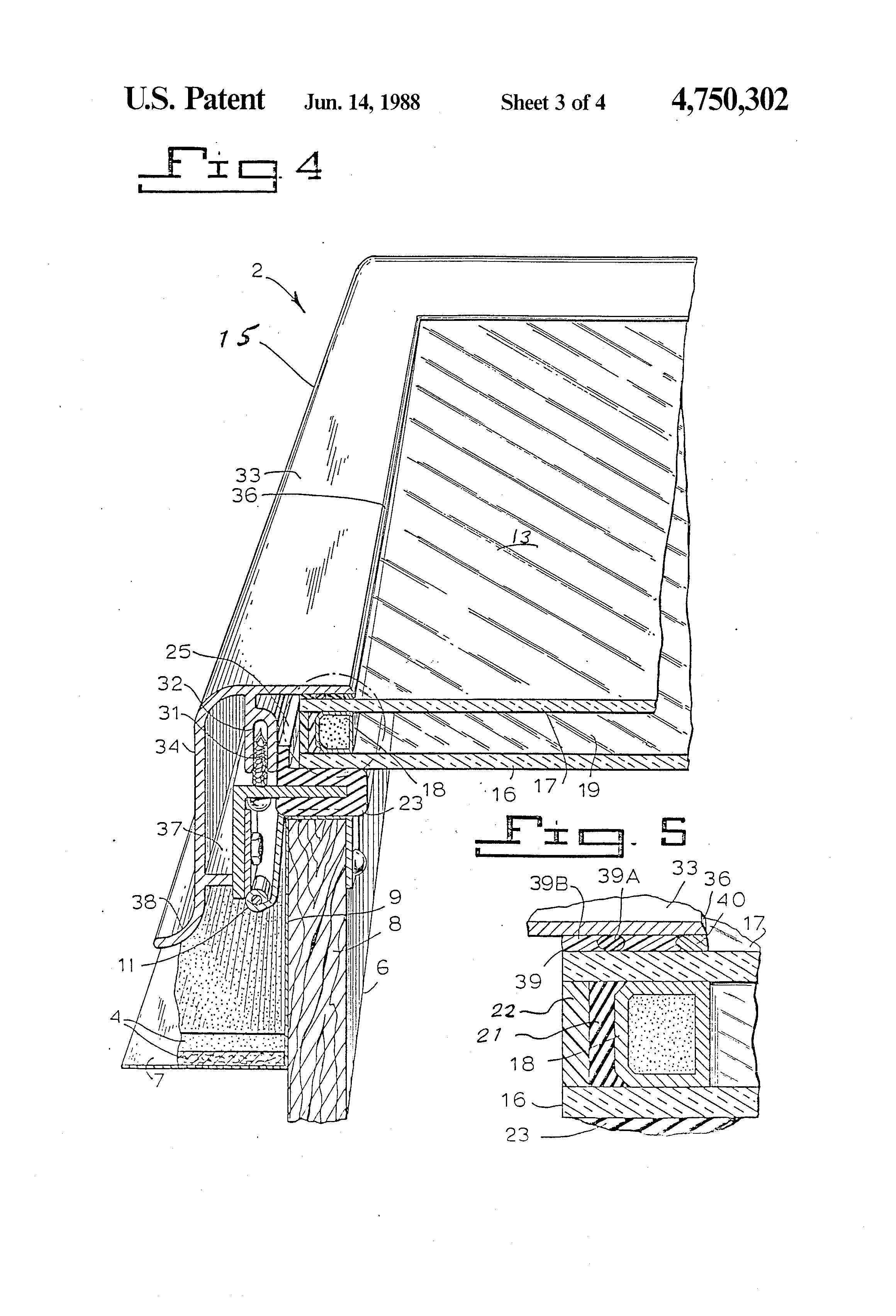 Insulated Glass Assembly : Patent us insulated glass skylight assembly